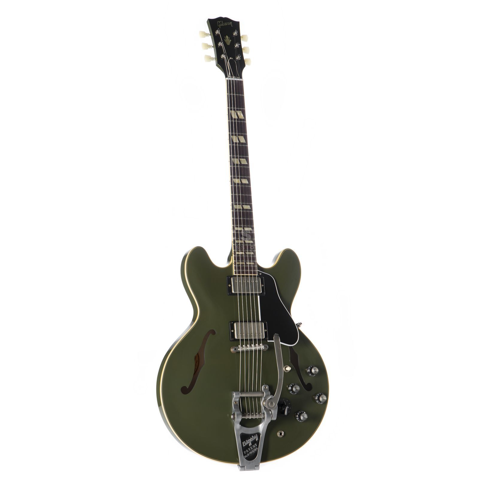 Gibson ES-345 Bigsby Olive Drab Green #61579 Product Image