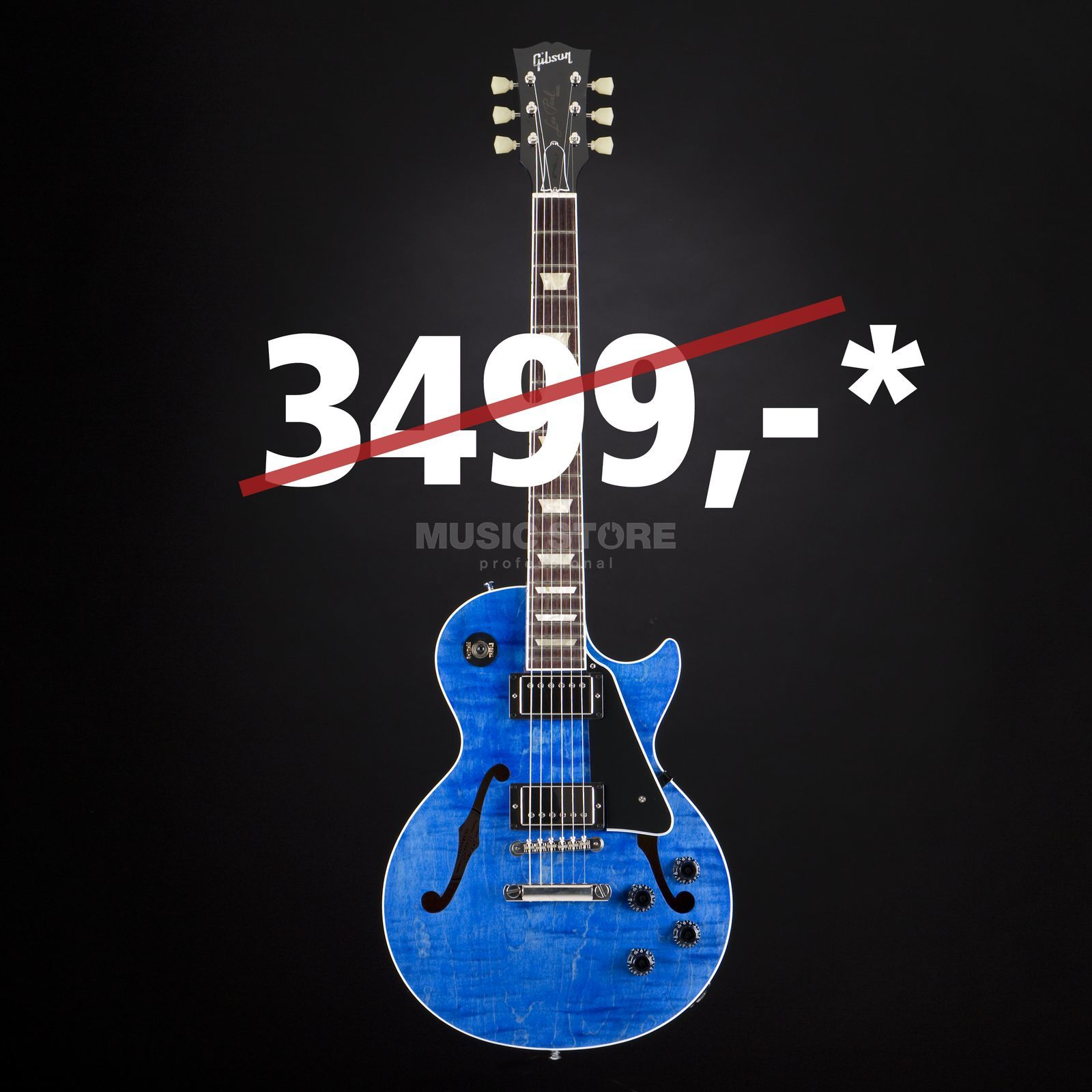 Gibson ES-Les Paul Blue Stain #12666727 Productafbeelding