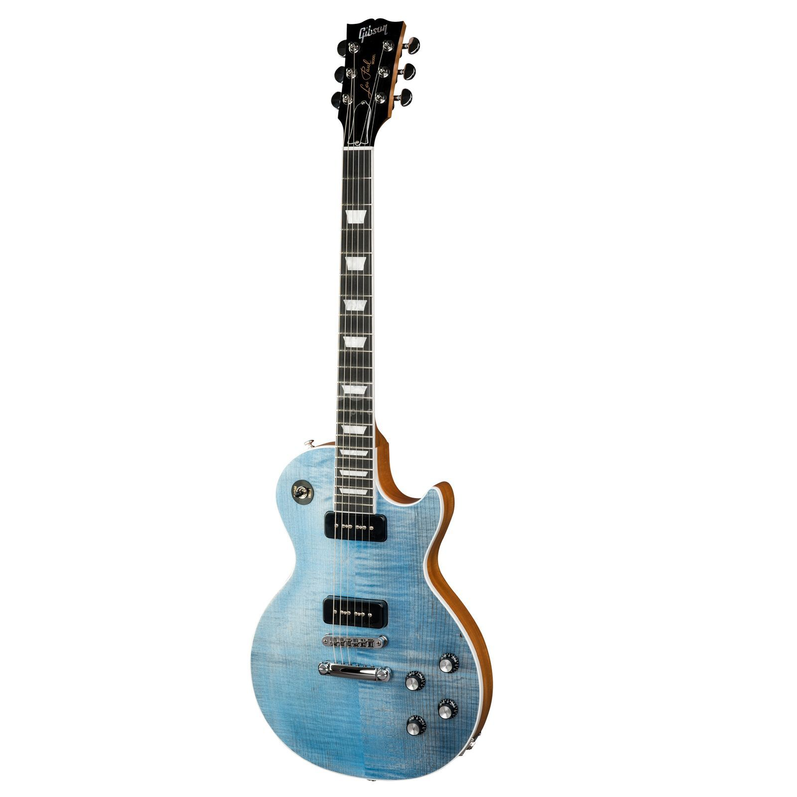 Gibson Les Paul Classic Player Plus 2018 Satin Ocean Blue Product Image