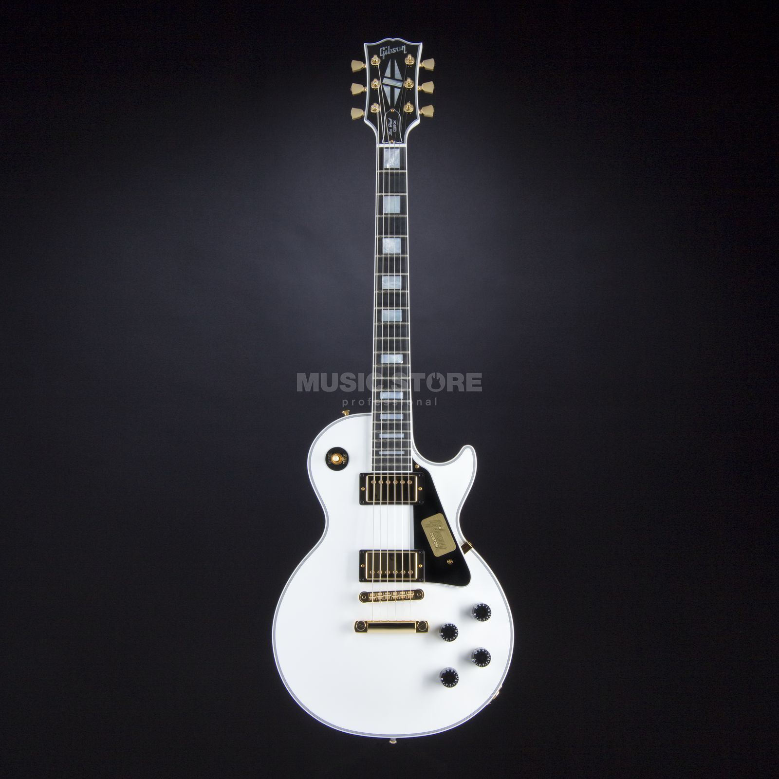 Gibson Les Paul Custom Electric Guita r, Alpine White   Produktbillede
