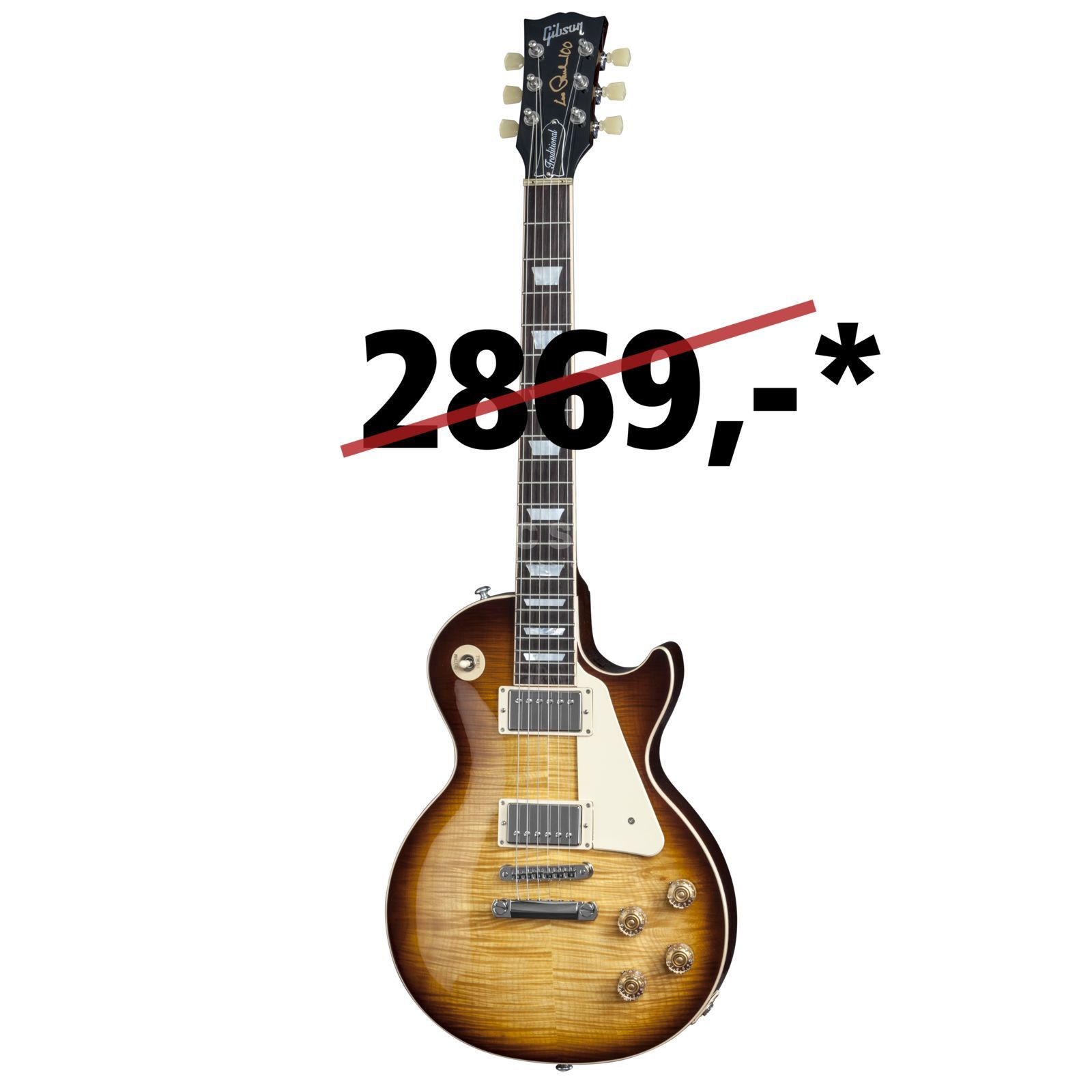 Gibson Les Paul Traditional 2015 TS Tobacco Sunburst Produktbillede