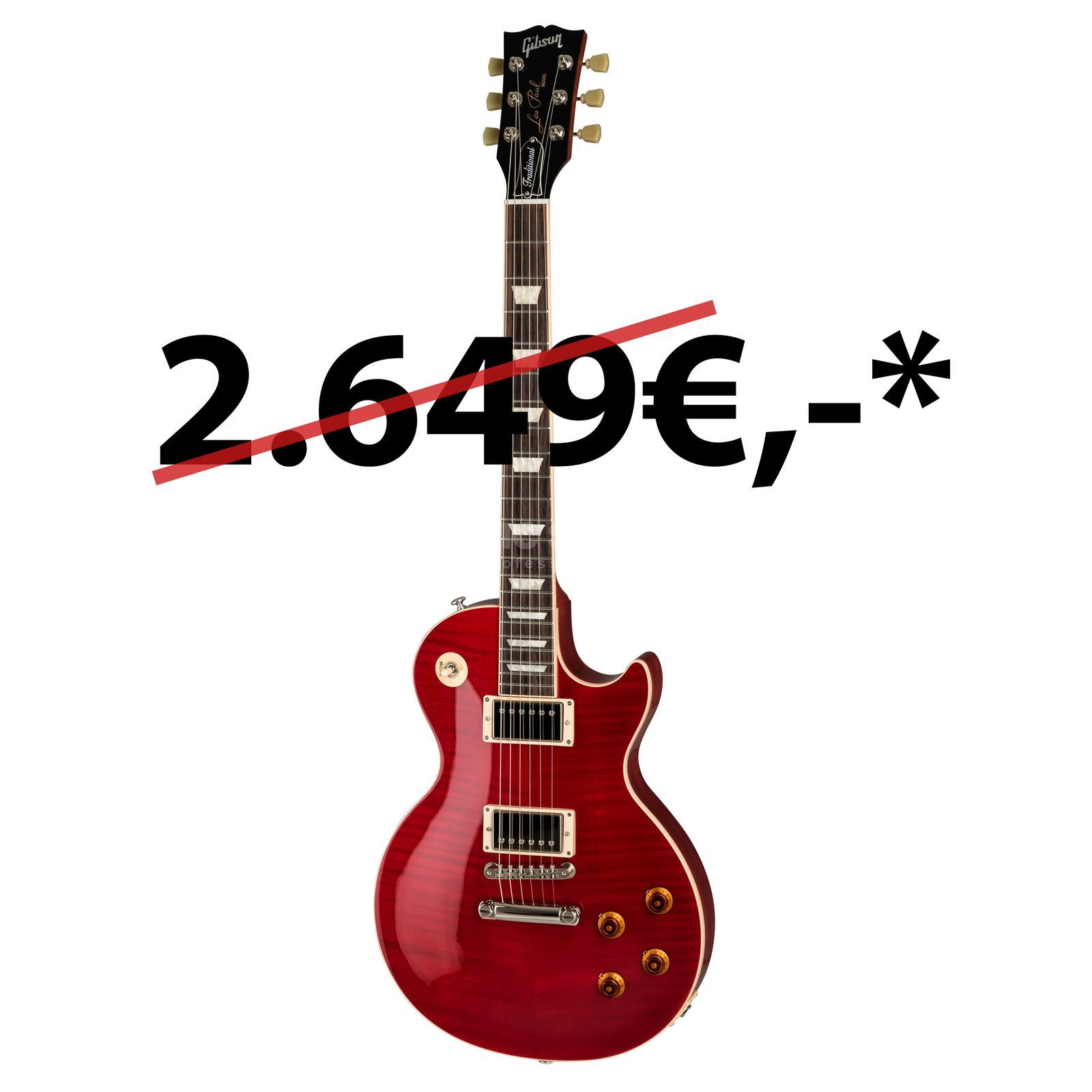 Gibson Les Paul Traditional 2019 Cherry Red Translucent Product Image