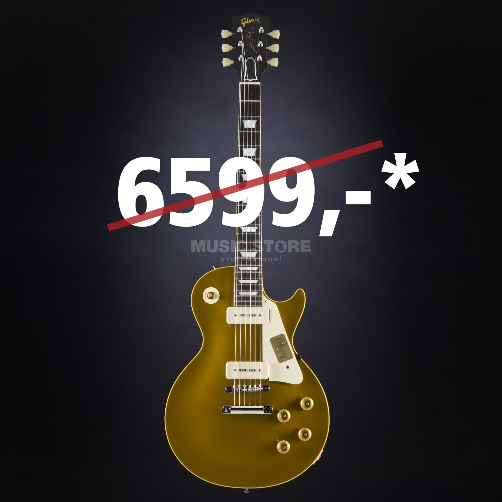 Gibson True Historic 1956 Les Paul Reissue Vintage Antique Gold # 65015 Produktbild