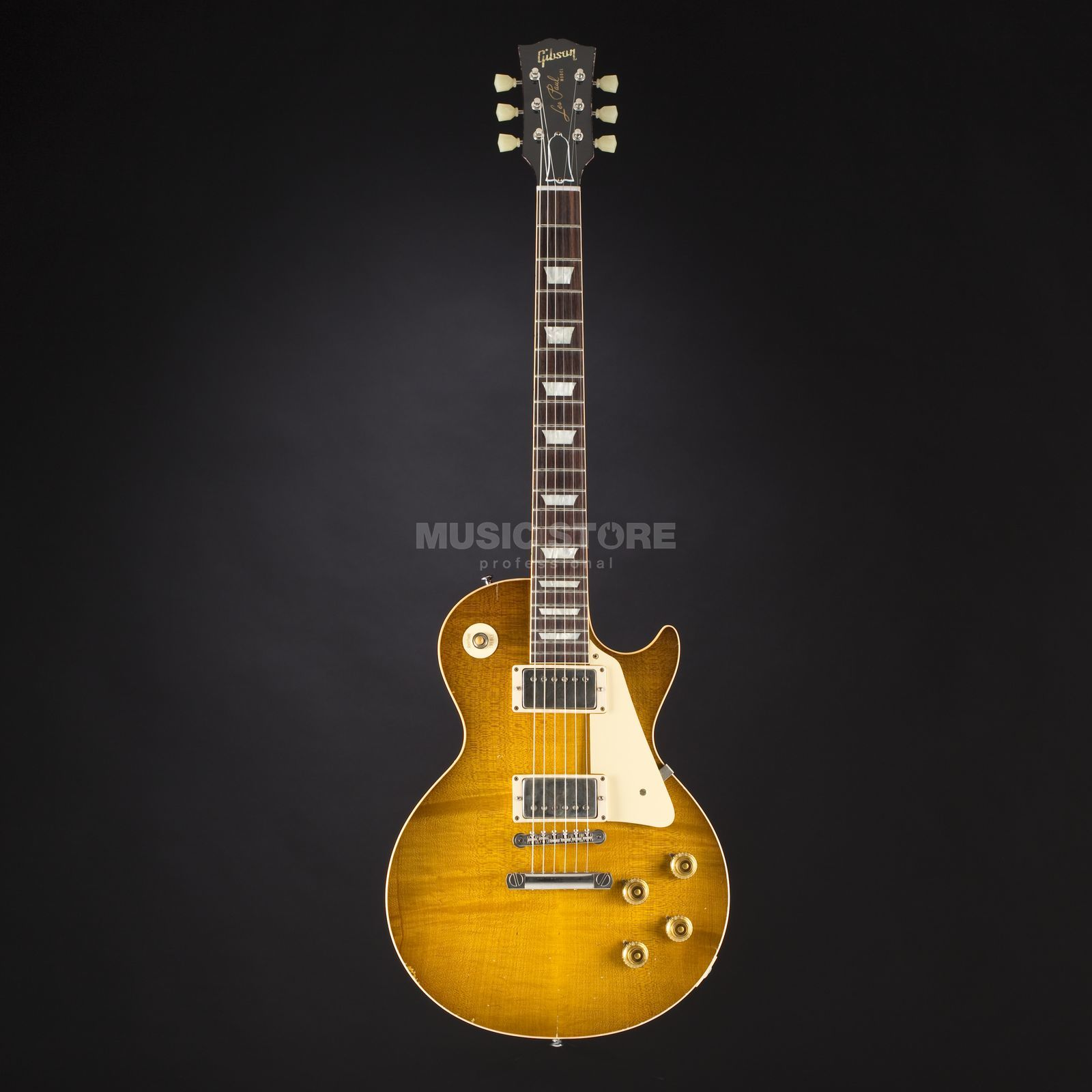 Gibson True Historic 1958 Les Paul Reissue Murphy Aged Vintage Lemon Burst #85051 Productafbeelding