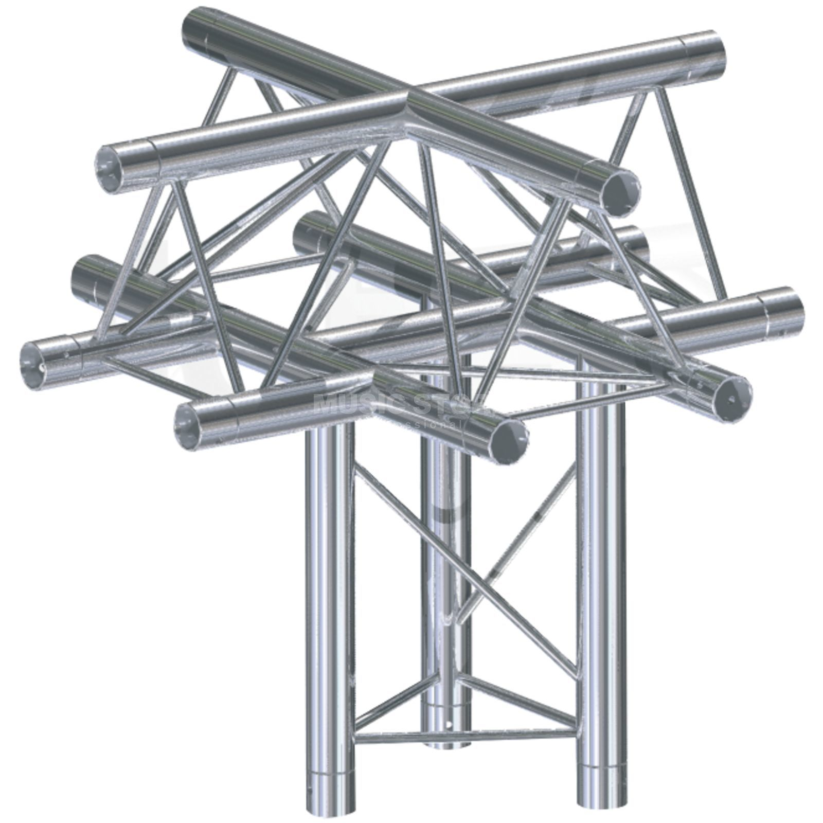 Global Truss F33, XU-X Piece C52 3-Point, 5-Way Cross Produktbillede