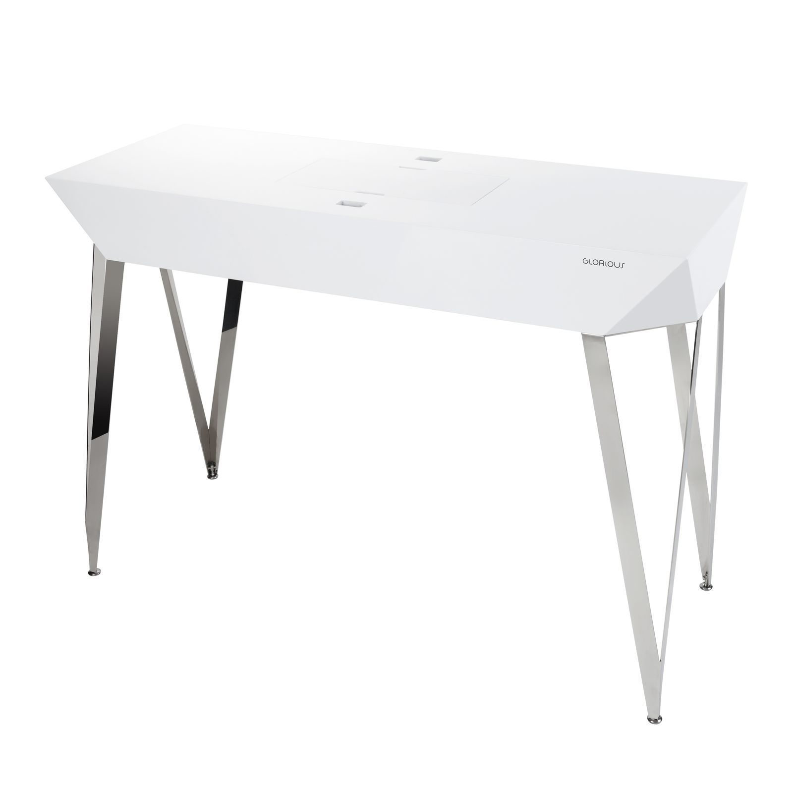 Glorious Glorious Diamond wit DJ-Table 125 x 90 x 48 cm Productafbeelding