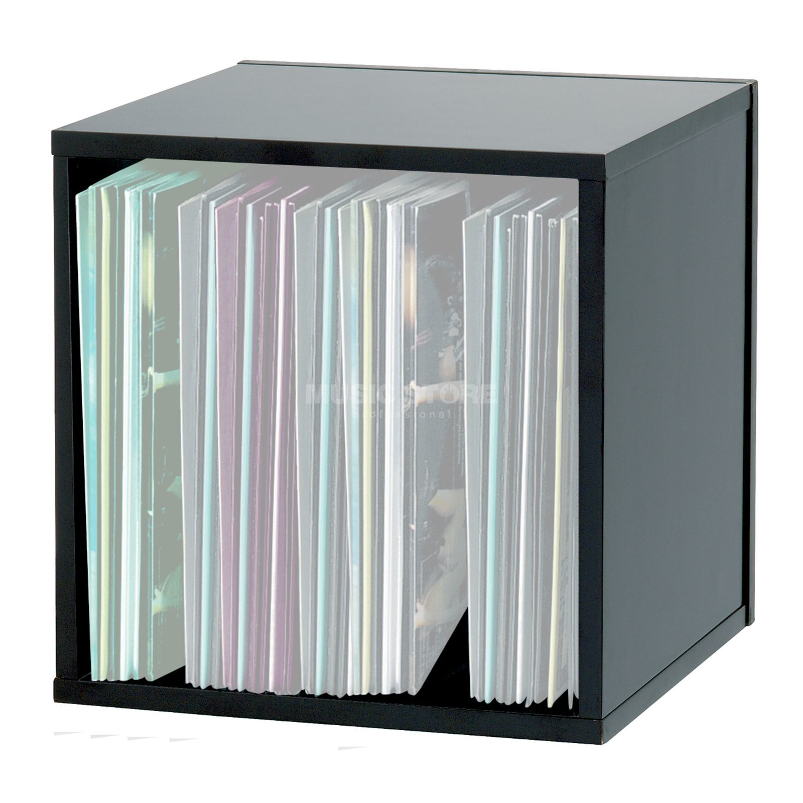 Glorious Record Box 110 Black MDF Record Box, 110 Capacity Immagine prodotto