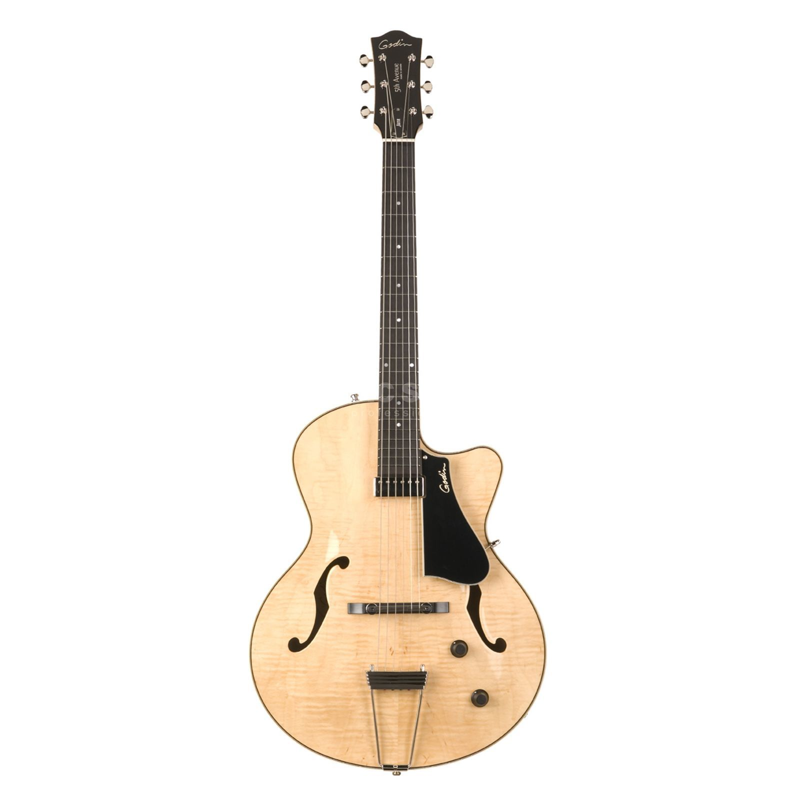 Godin 5th Avenue Jazz Natural Flame Highgloss inkl. Tric Case Produktbild