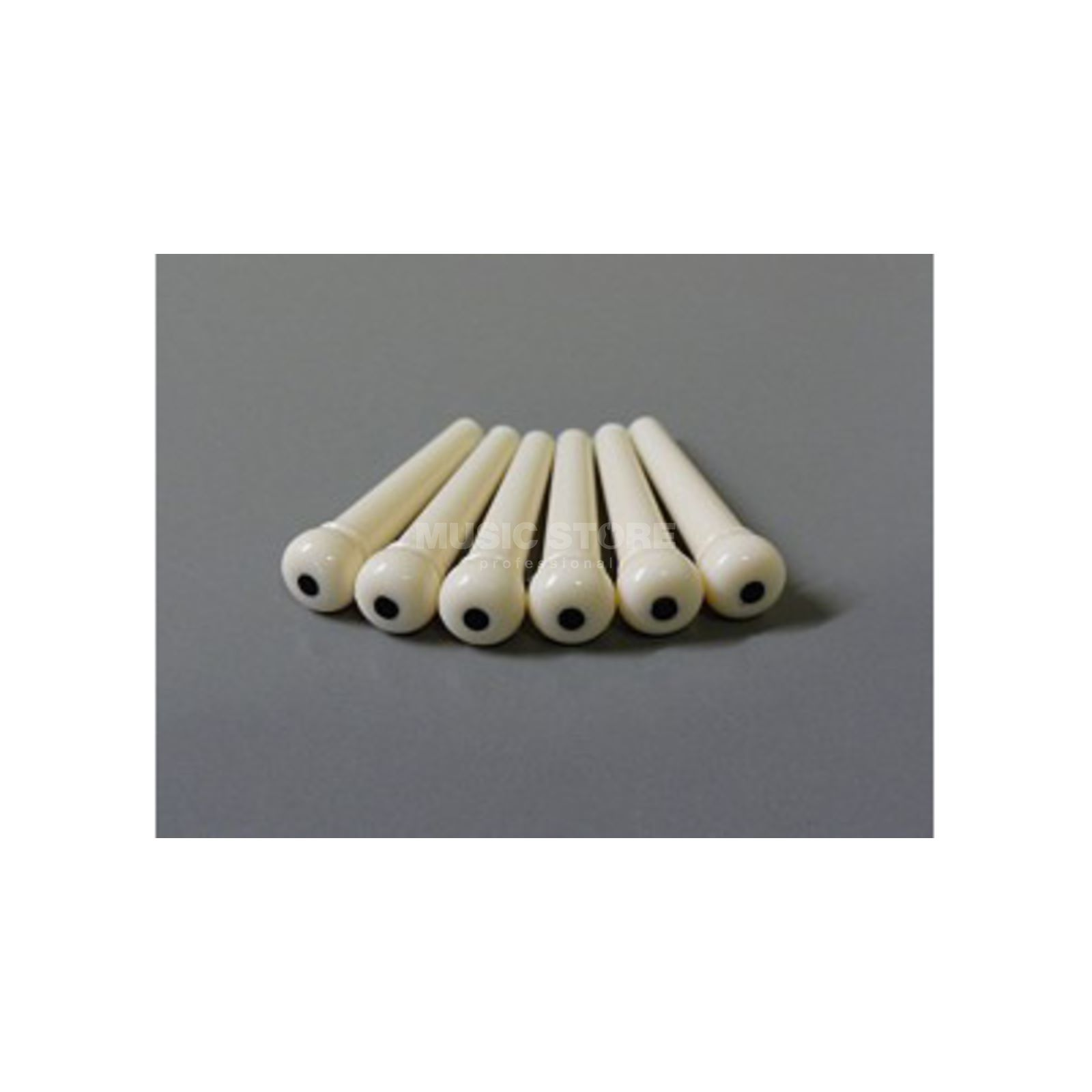 Göldo Bridge Pins 6er Set Ivory, Black Dot HW106 Produktbild