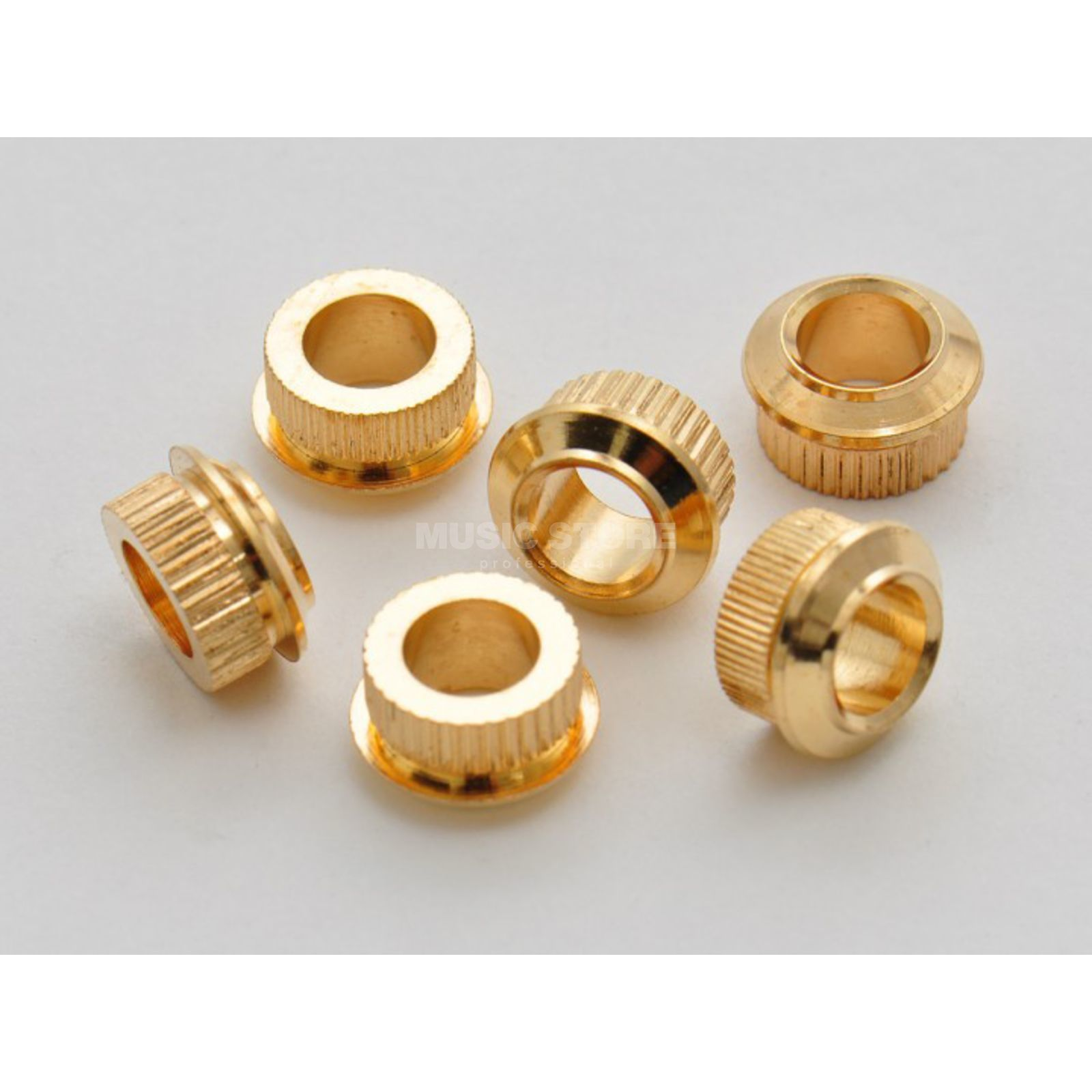 Göldo Mechanikbuchse gold 6er Set Adapter von 6-10mm gold Produktbillede