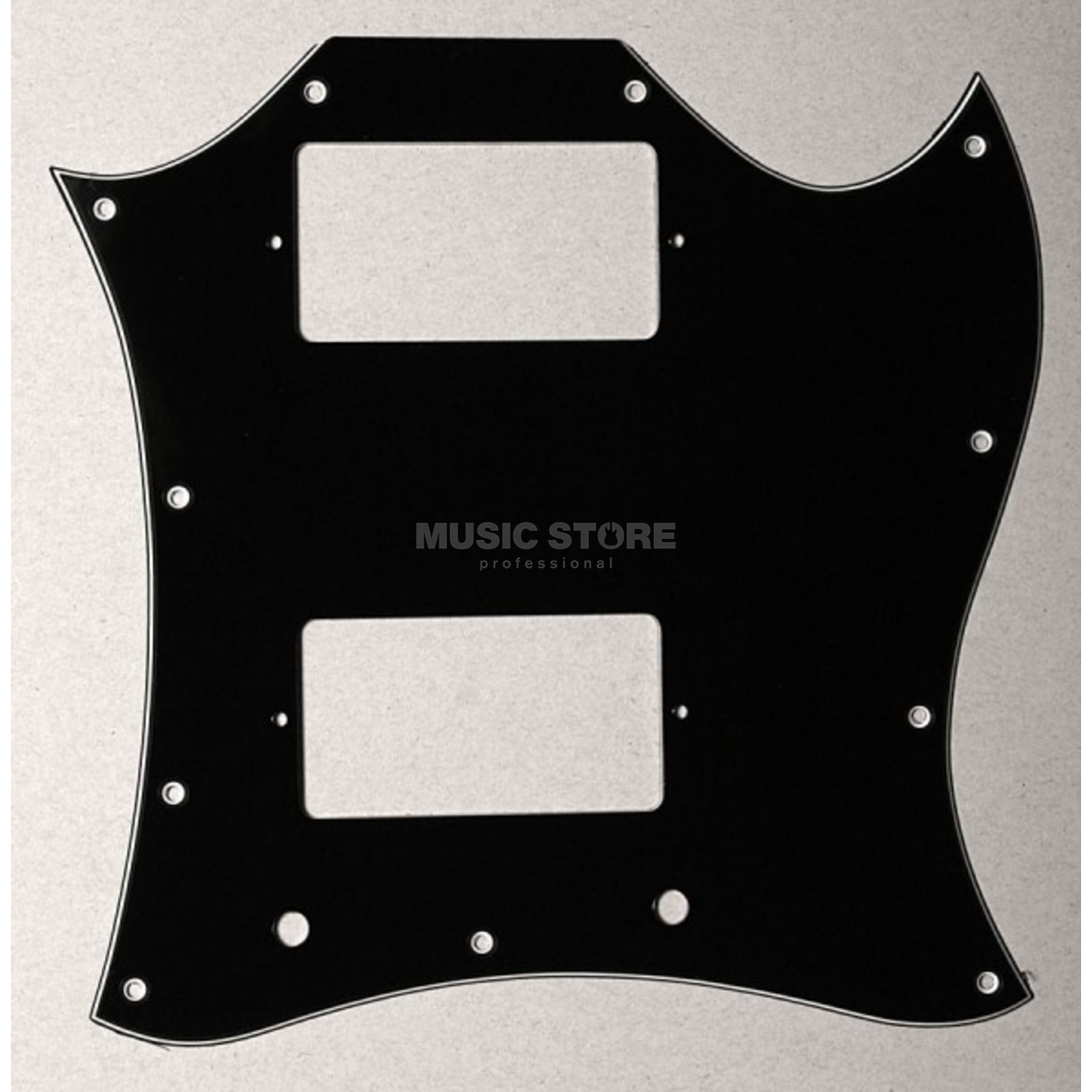 Göldo Pickguard Double Cut, 3-ply black Produktbild