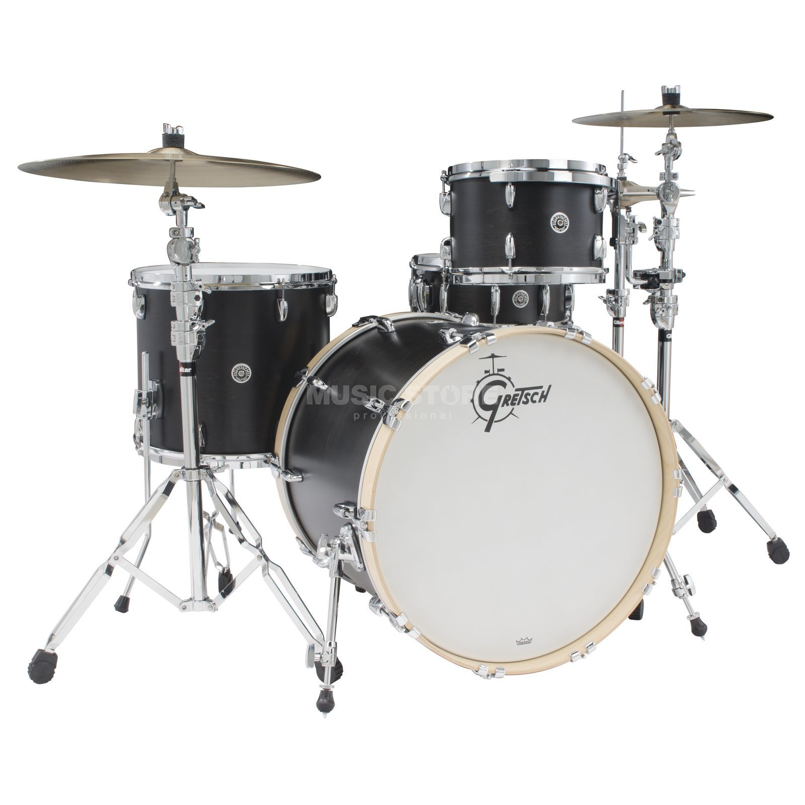 Gretsch Brooklyn ShellSet GB-R443, Satin Black #SDE Produktbillede