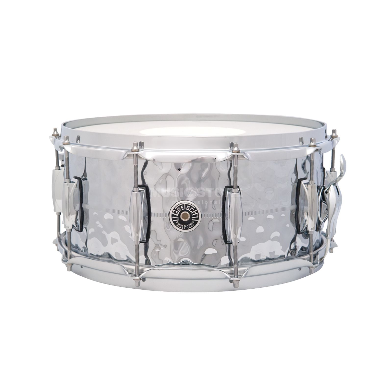 "Gretsch Brooklyn Snare 14""x6.5"", Hammered Chrome Produktbillede"