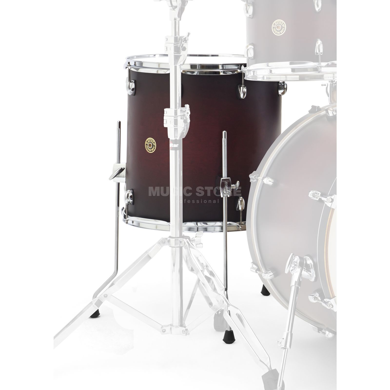 "Gretsch Catalina Maple FloorTom 14""x14"", Satin Deep Cherry Produktbillede"