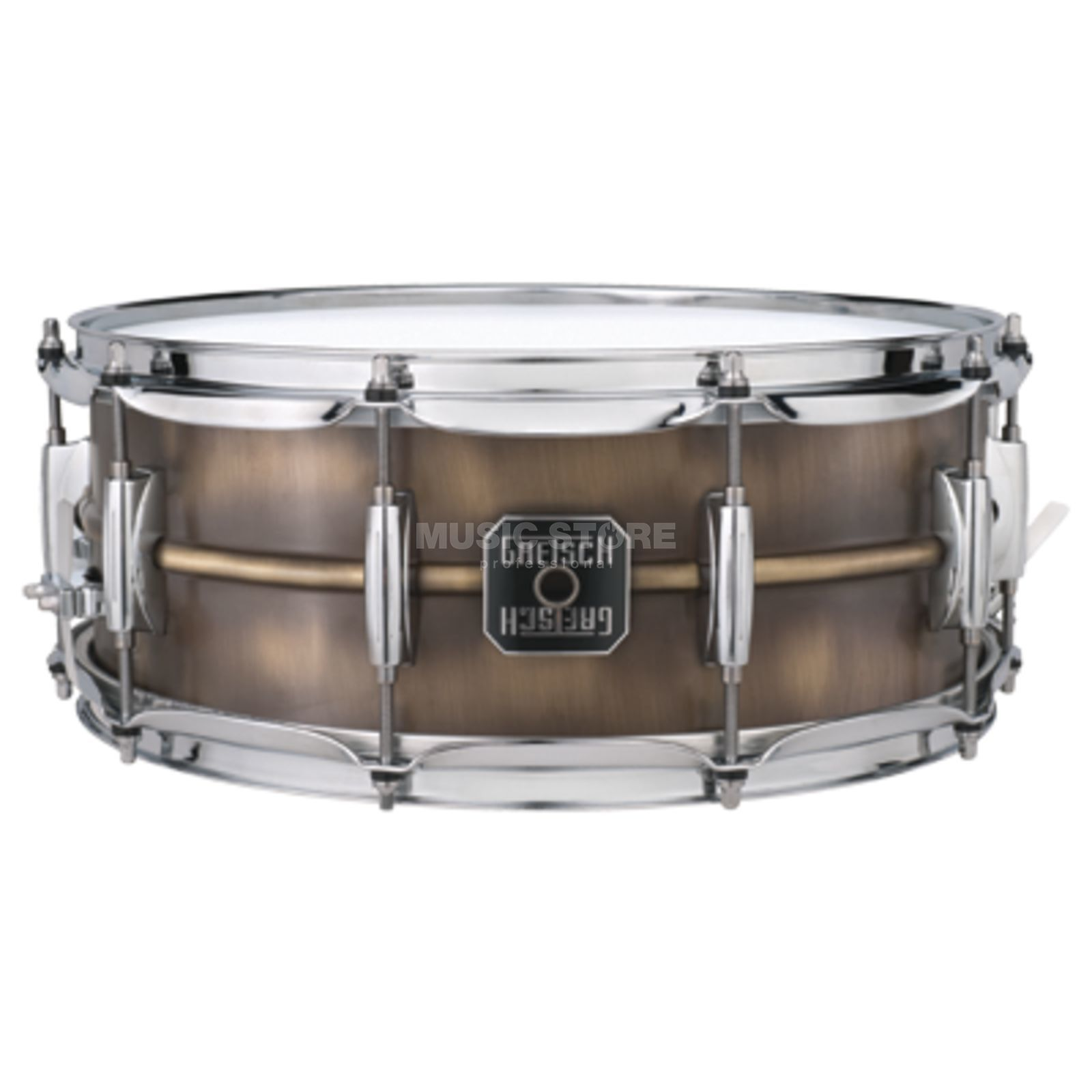 "Gretsch Full Range Snare S-6514-BB, 14""x6.5"", Brushed Brass Produktbillede"