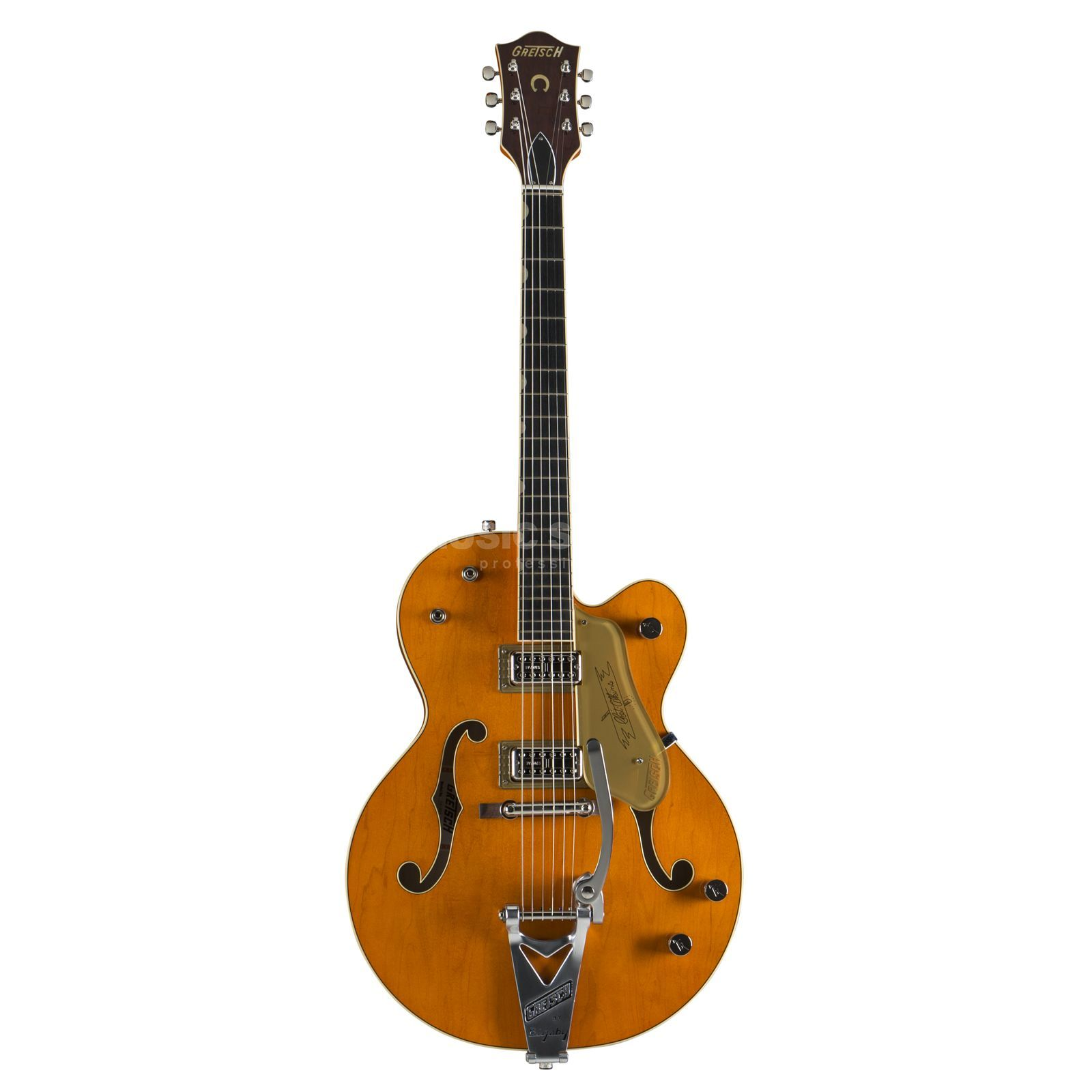 Gretsch G6120T-59 VSE Chet Atkins Hollow Body Bigsby Vintage Orange Stain Lacquer Produktbillede