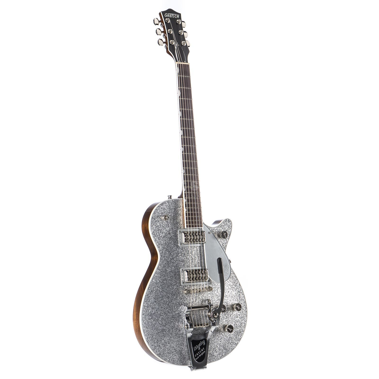 Gretsch G6129T Players Edition Jet FT Bigsby Silver Sparkle Produktbild