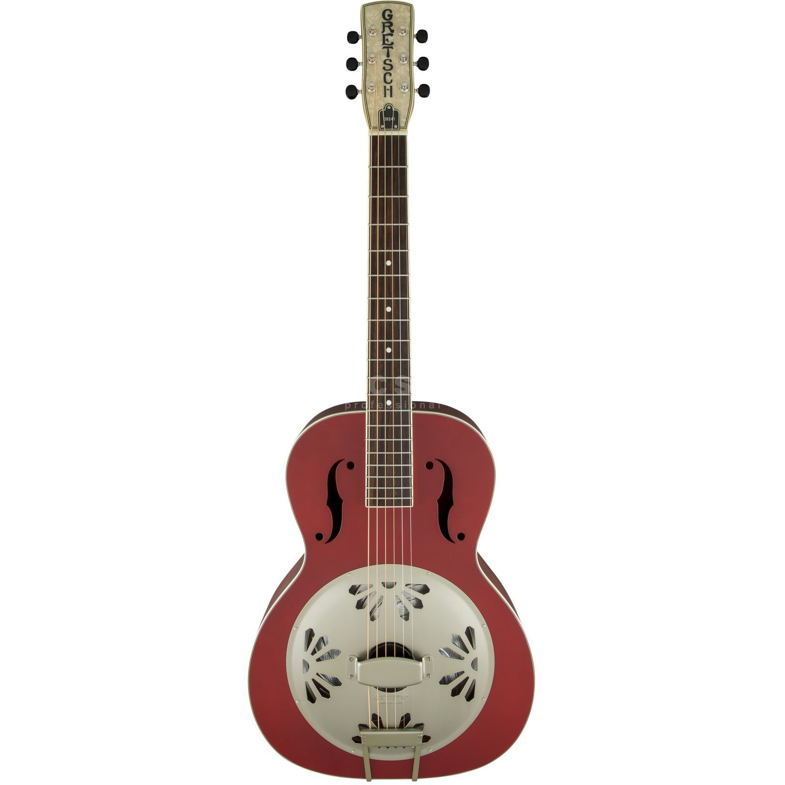 Gretsch G9241 Alligator Biscuit Round Neck Chieftain Red Produktbillede
