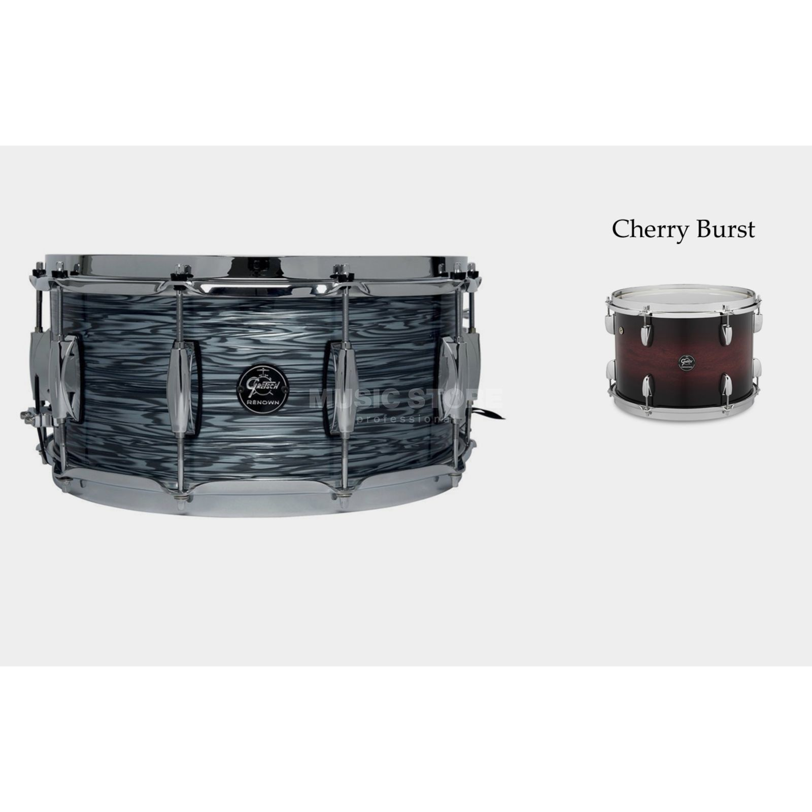 "Gretsch Renown Maple 2016 Snare, 14""x5,5"", Cherry Burst Produktbillede"