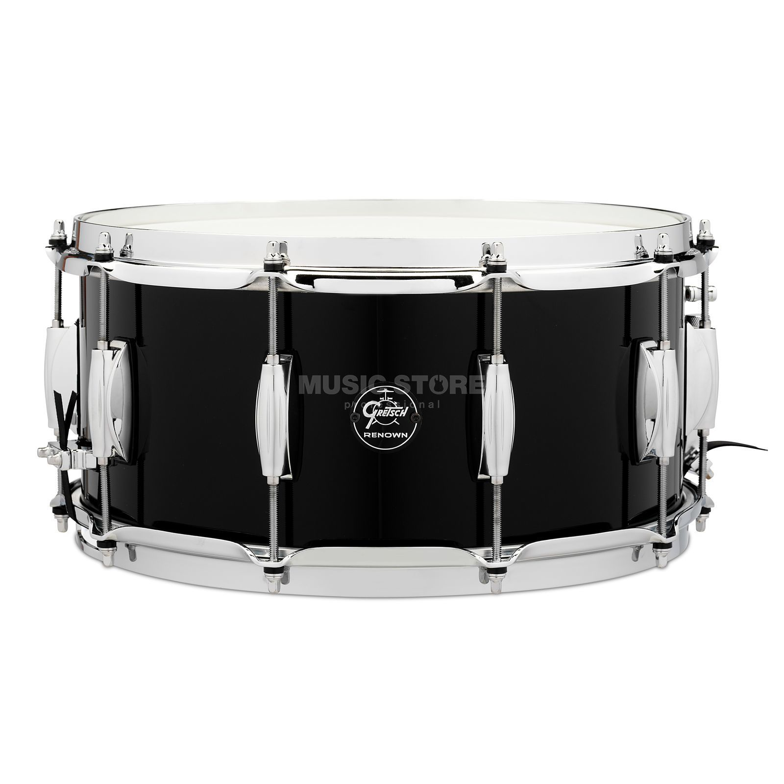 "Gretsch Renown Maple 2016 Snare, 14""x6,5"", Piano Black Product Image"