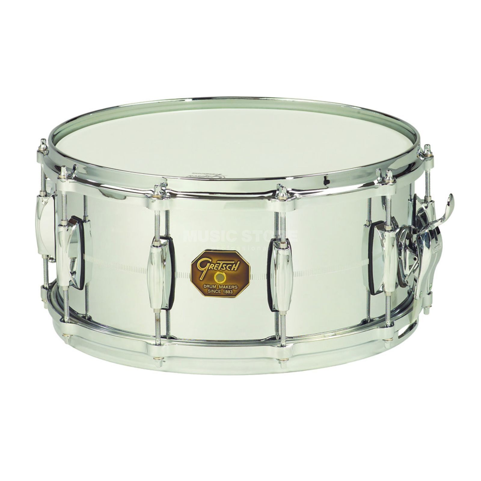 "Gretsch USA G4000 Snare G4164, 14""x6.5"", Chrome over Brass Produktbillede"