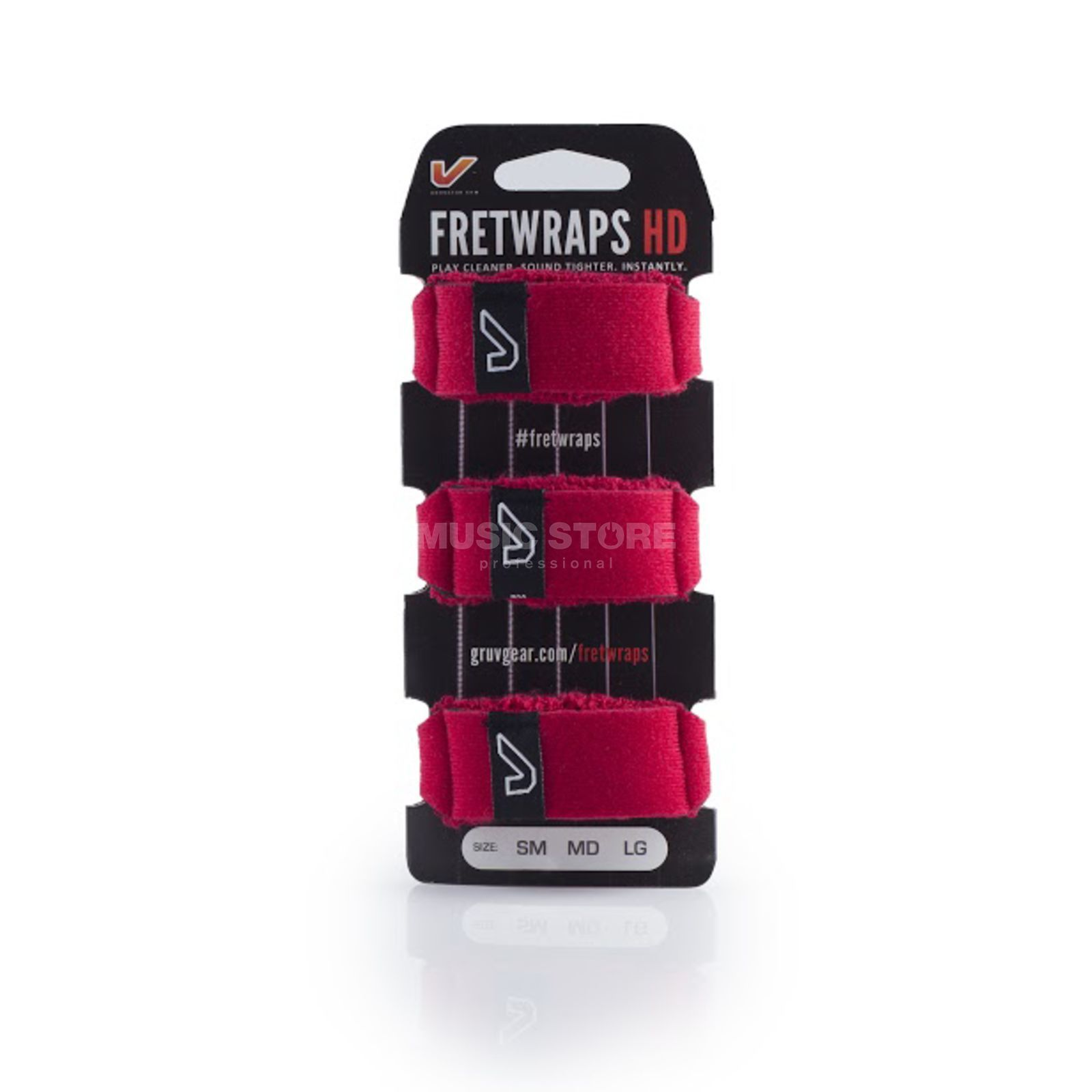 Gruv Gear Fret Wraps HD Fire Red Medium, 3er Pack Produktbillede