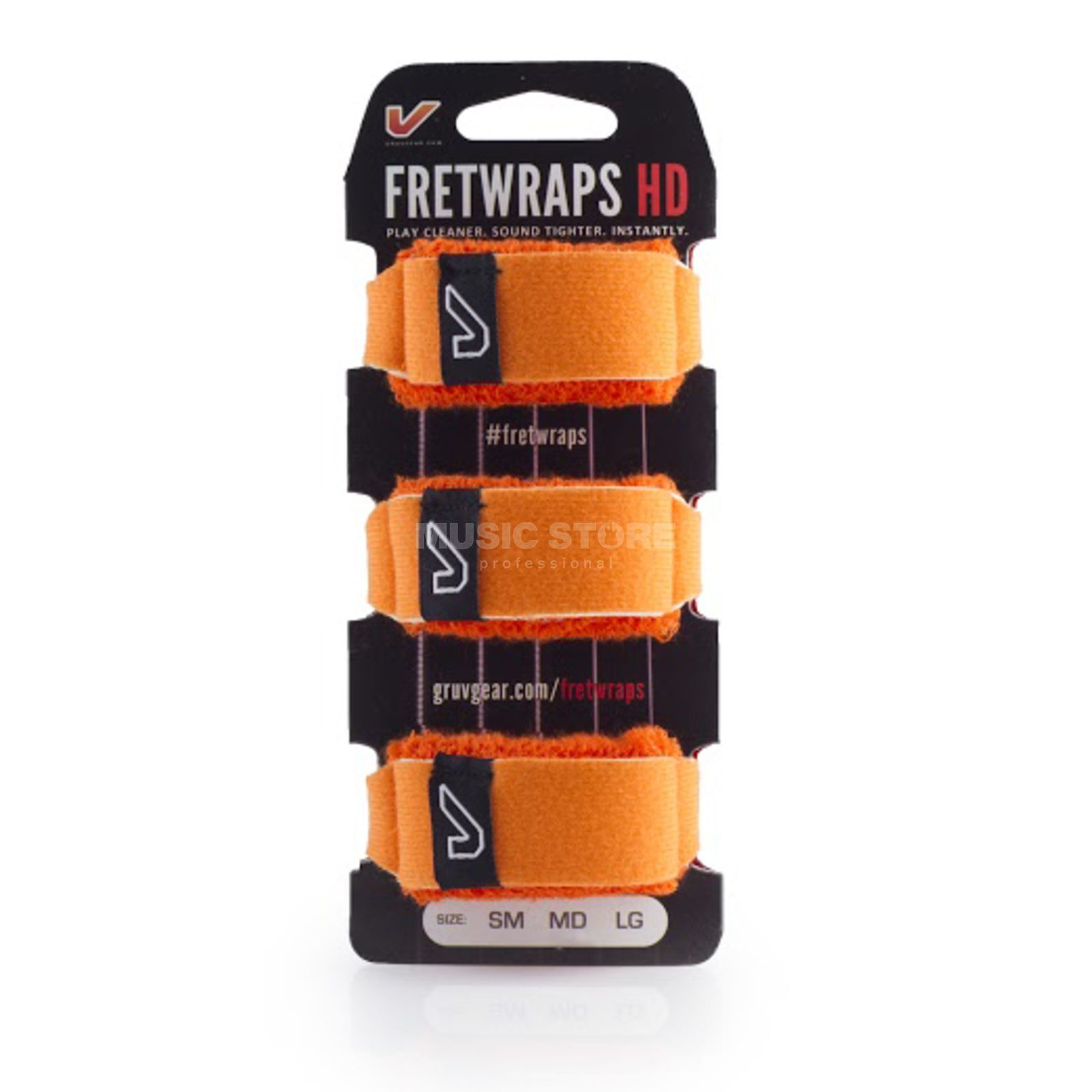 Gruv Gear Fret Wraps HD Flare Orange Large, 3er Pack Produktbillede