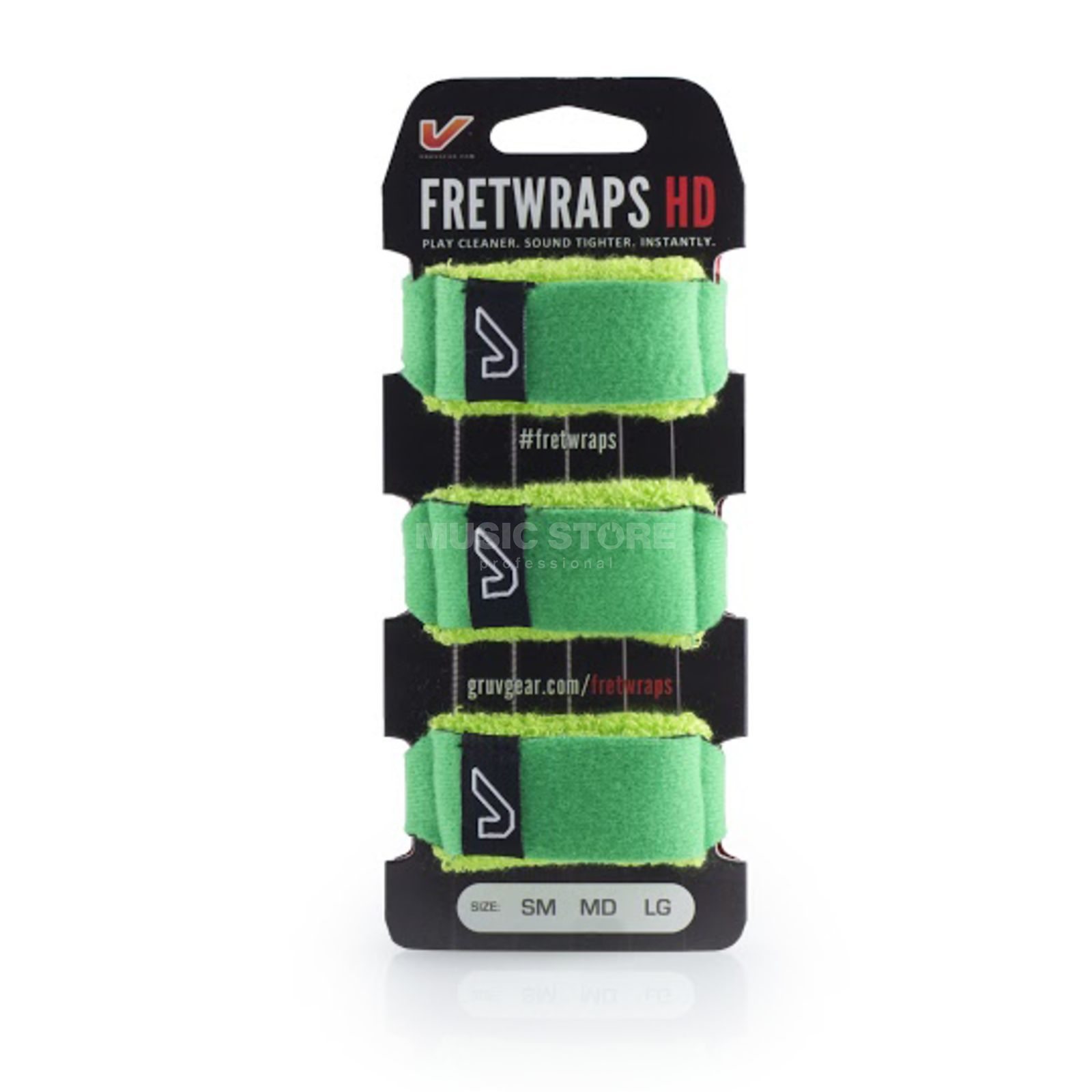 Gruv Gear Fret Wraps HD Leaf Green Large, 3er Pack Produktbillede