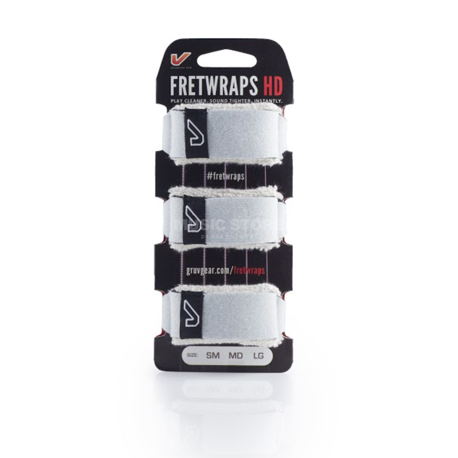 Gruv Gear Fret Wraps HD Stone White XL, 3er Pack Produktbillede