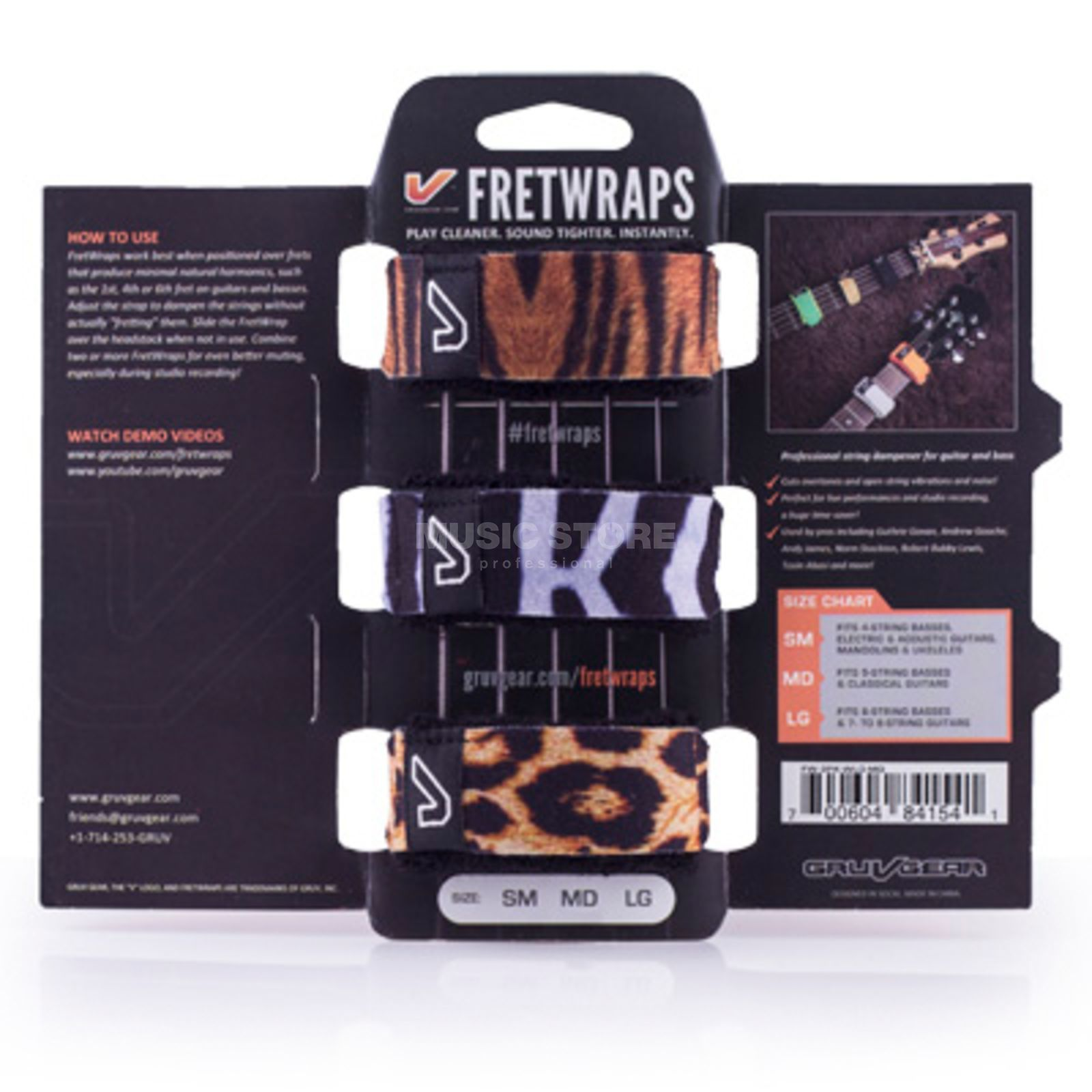 Gruv Gear Fret Wraps Wild Medium Mixpack Produktbild