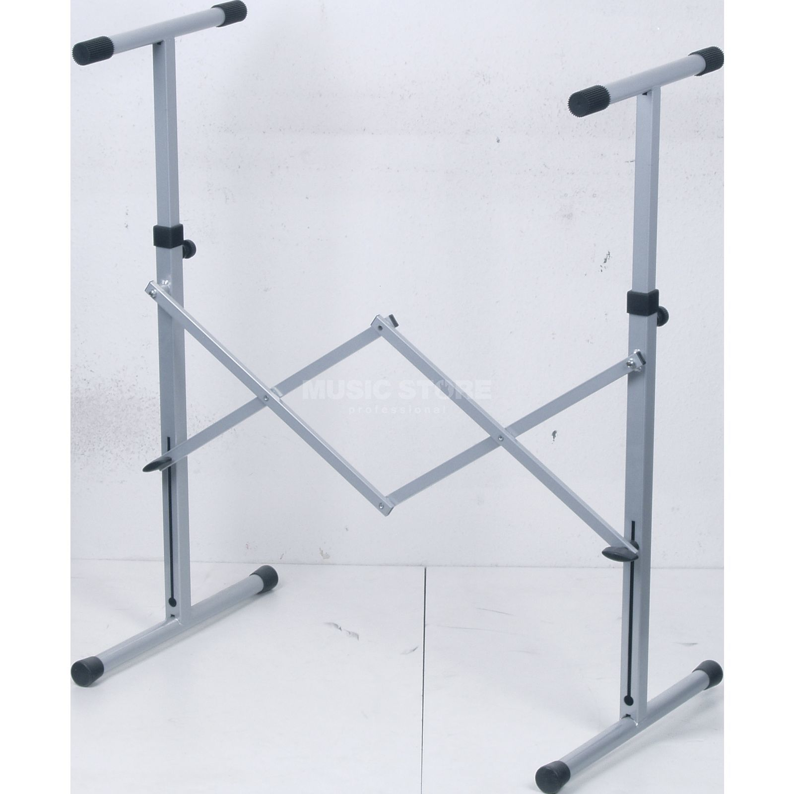 GVI keyboard stand, silver, high 720-1150 mm Produktbillede