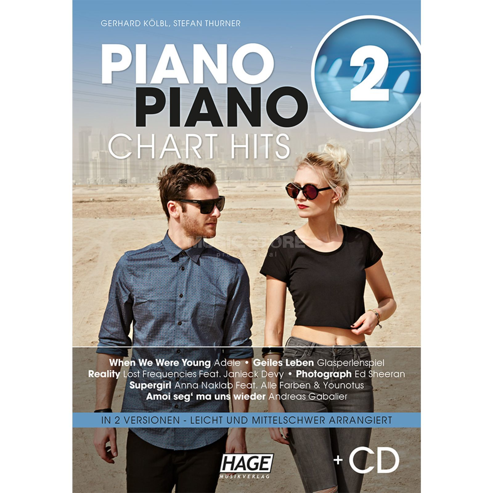 Hage Musikverlag Piano Piano Chart Hits 2 Songbuch und CD Produktbillede