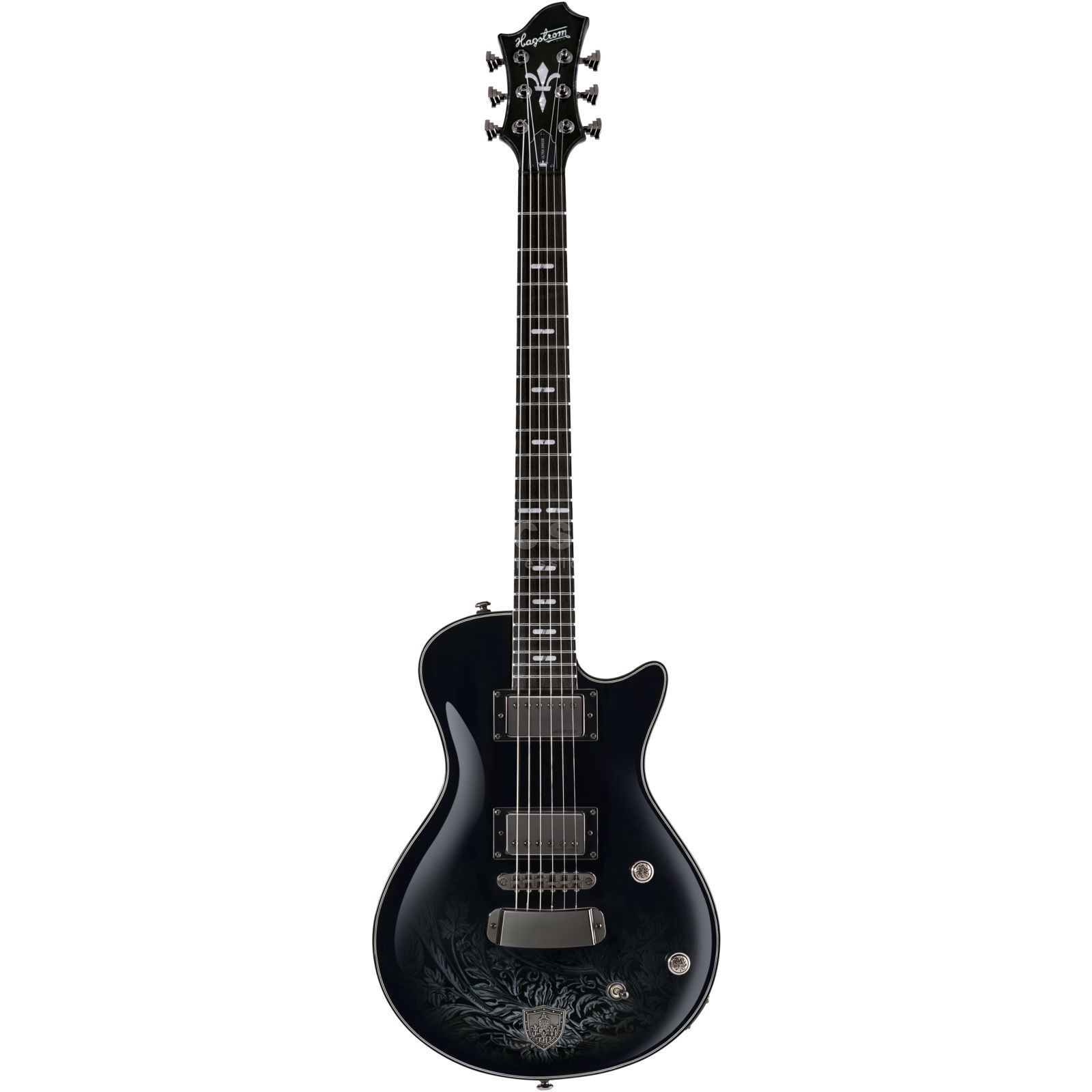 Hagstrom Three Kings Ultra Swede Limited Edition Black Gloss Product Image