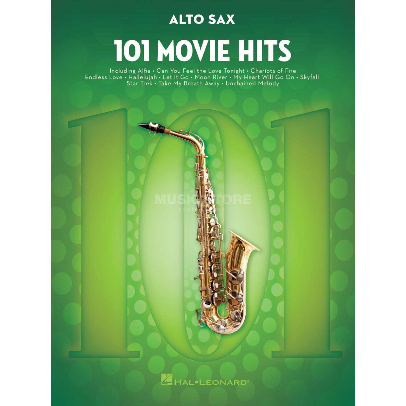 Hal Leonard 101 Movie Hits For Alto Saxophone Produktbillede