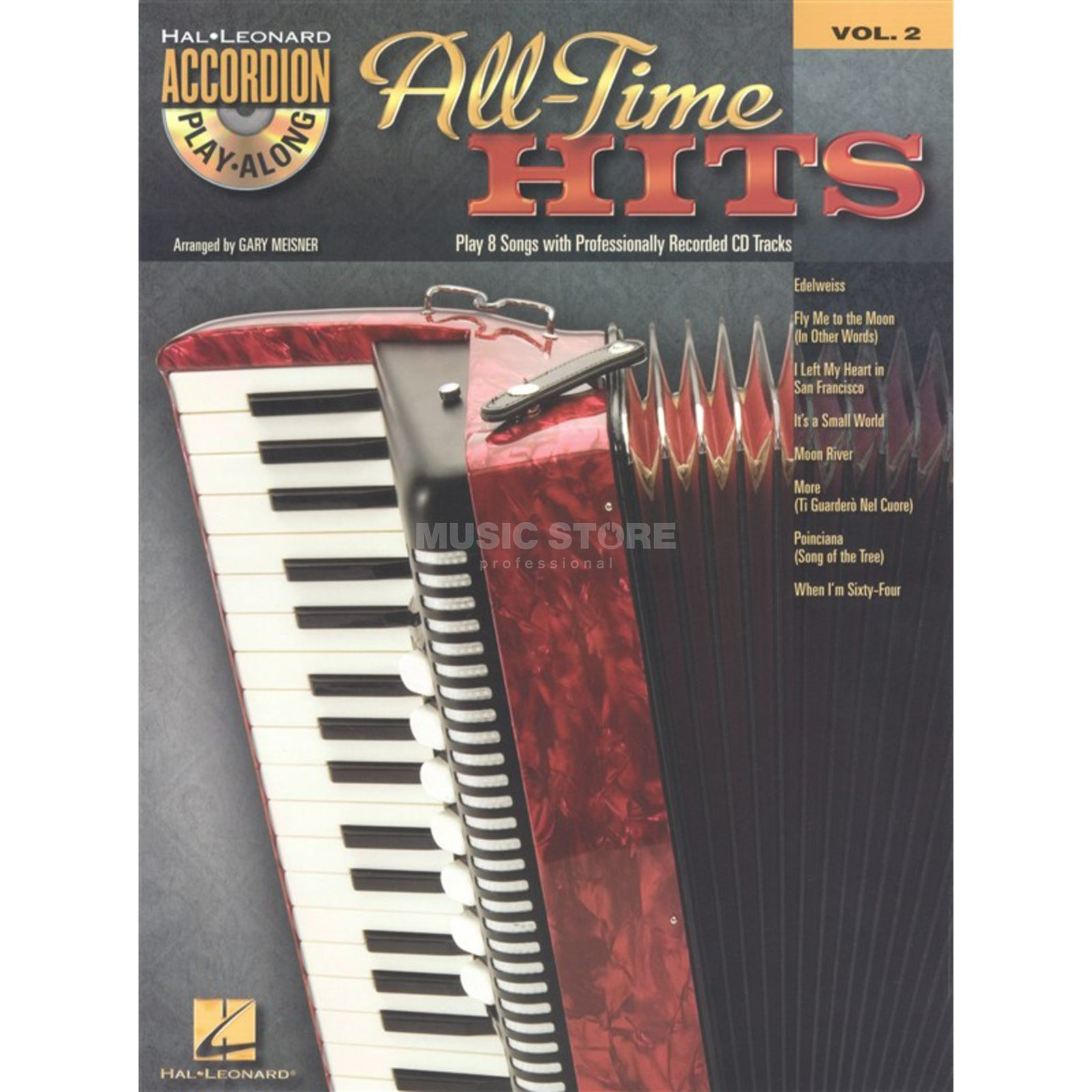 Hal Leonard Accordion Play-Along: All-Time Hits Vol.2, CD Produktbild