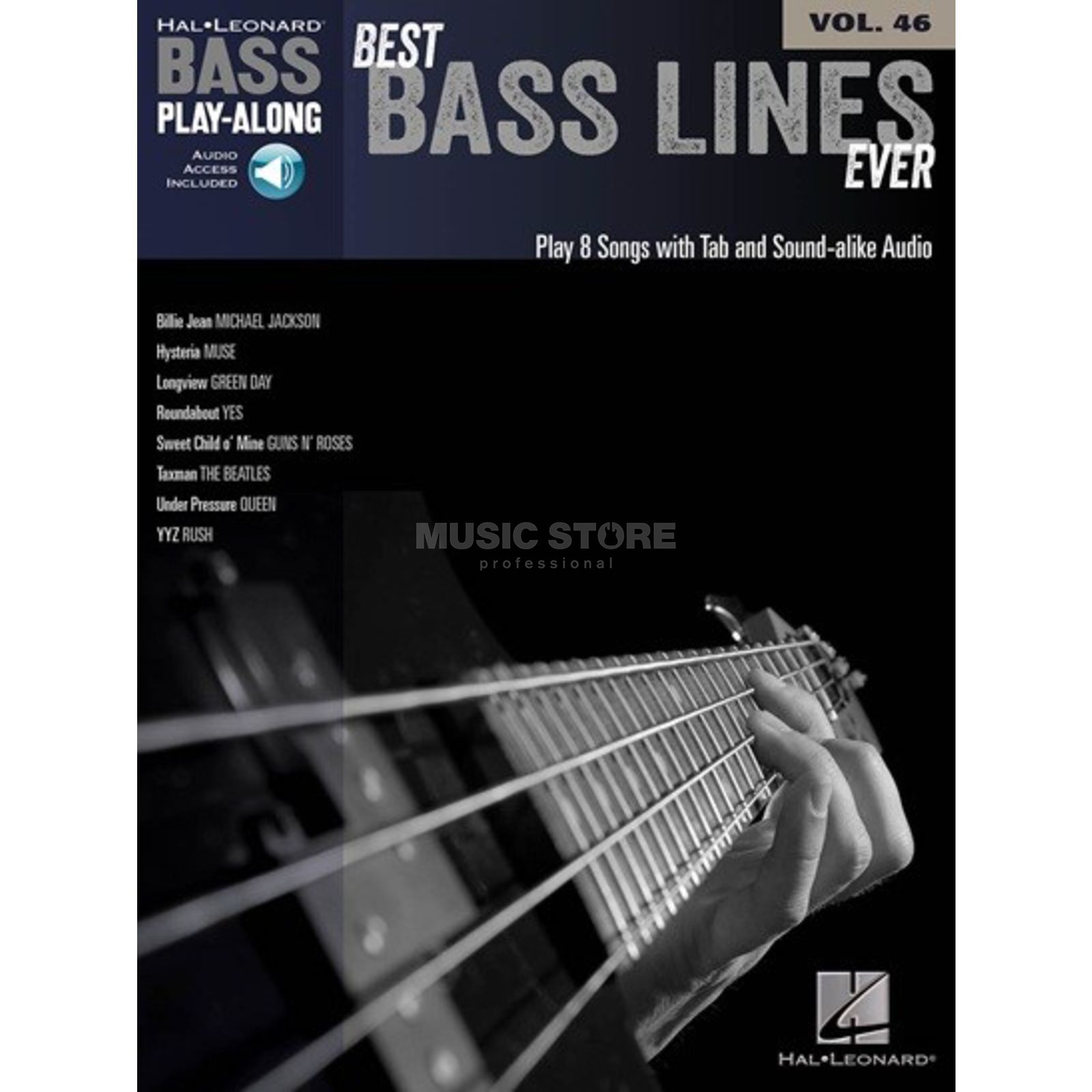 Hal Leonard Bass Play-Along - Best Bass Lines Ever Vol. 46, Bass TAB Produktbillede