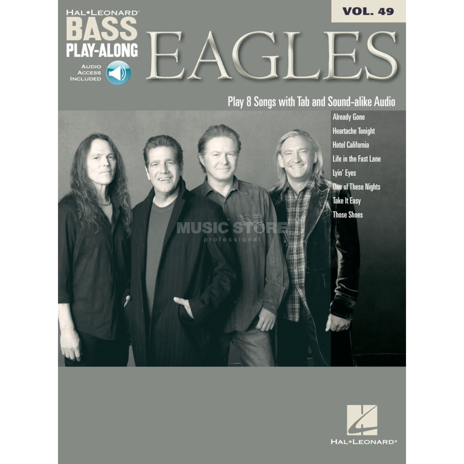 Hal Leonard Bass Play-Along - Eagles Vol. 49, Bass TAB Produktbillede