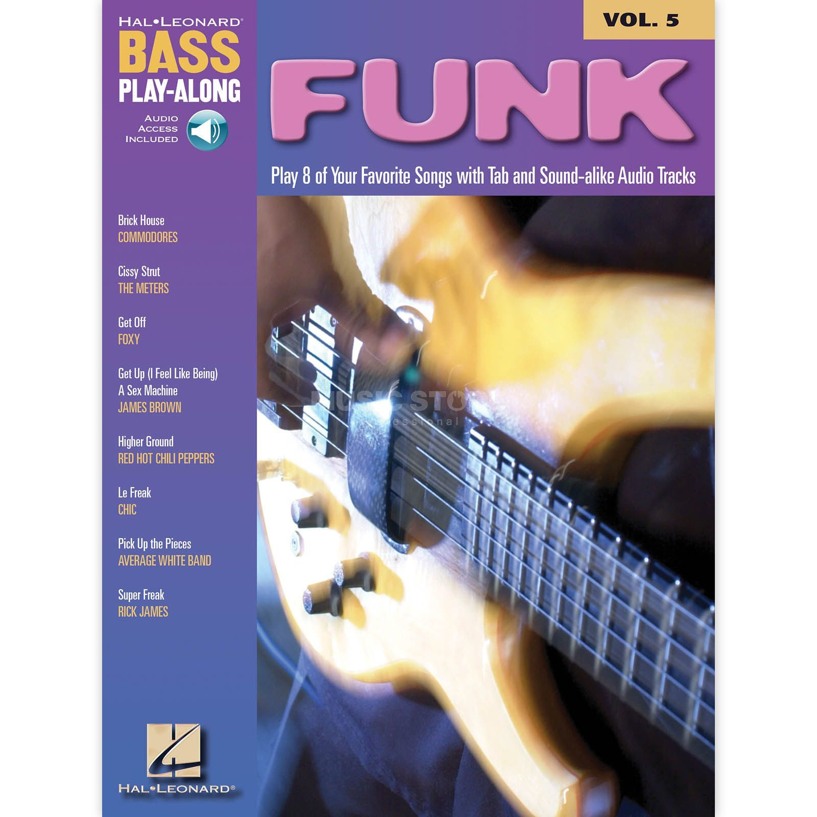Hal Leonard Bass Play-Along - Funk Vol. 5, Bass TAB Produktbild