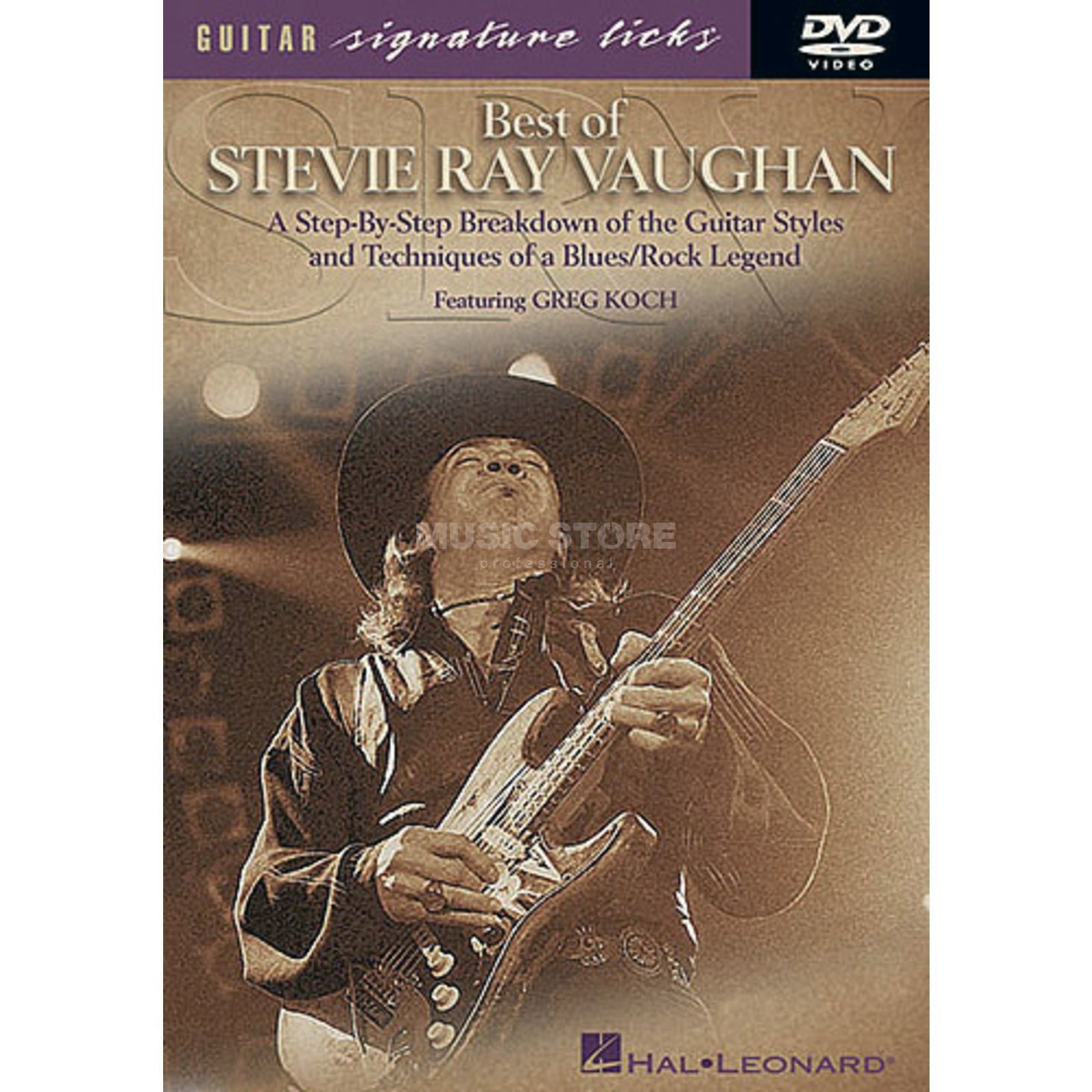 Hal Leonard Best Of Stevie Ray Vaughan Guitar Signature Licks, DVD Produktbillede