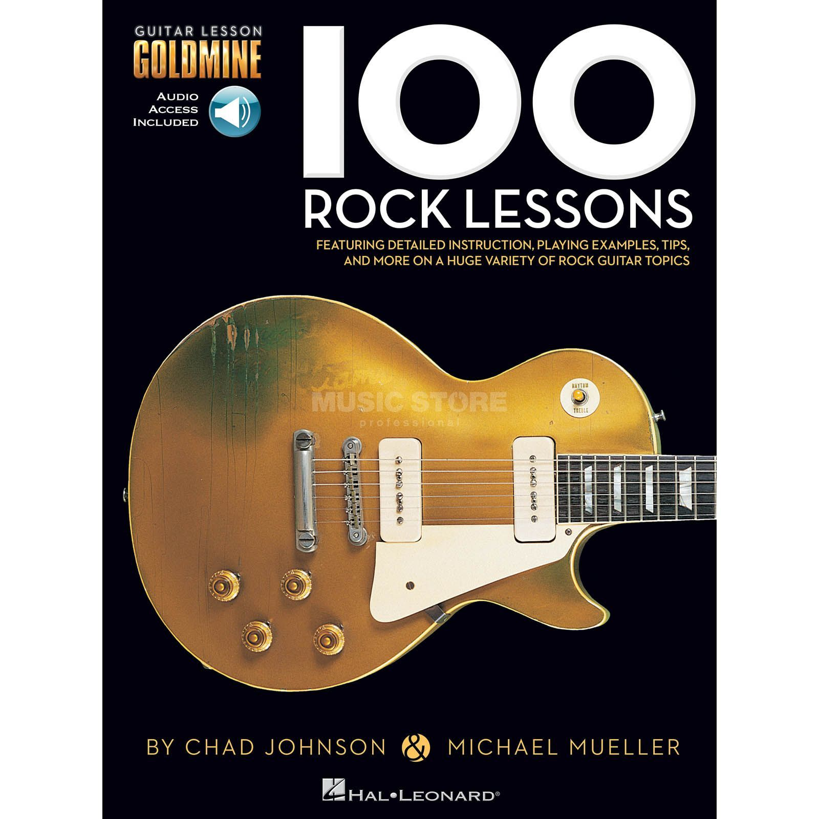 Hal Leonard Chad Johnson/Michael Mueller: 100 Rock Lessons Produktbild