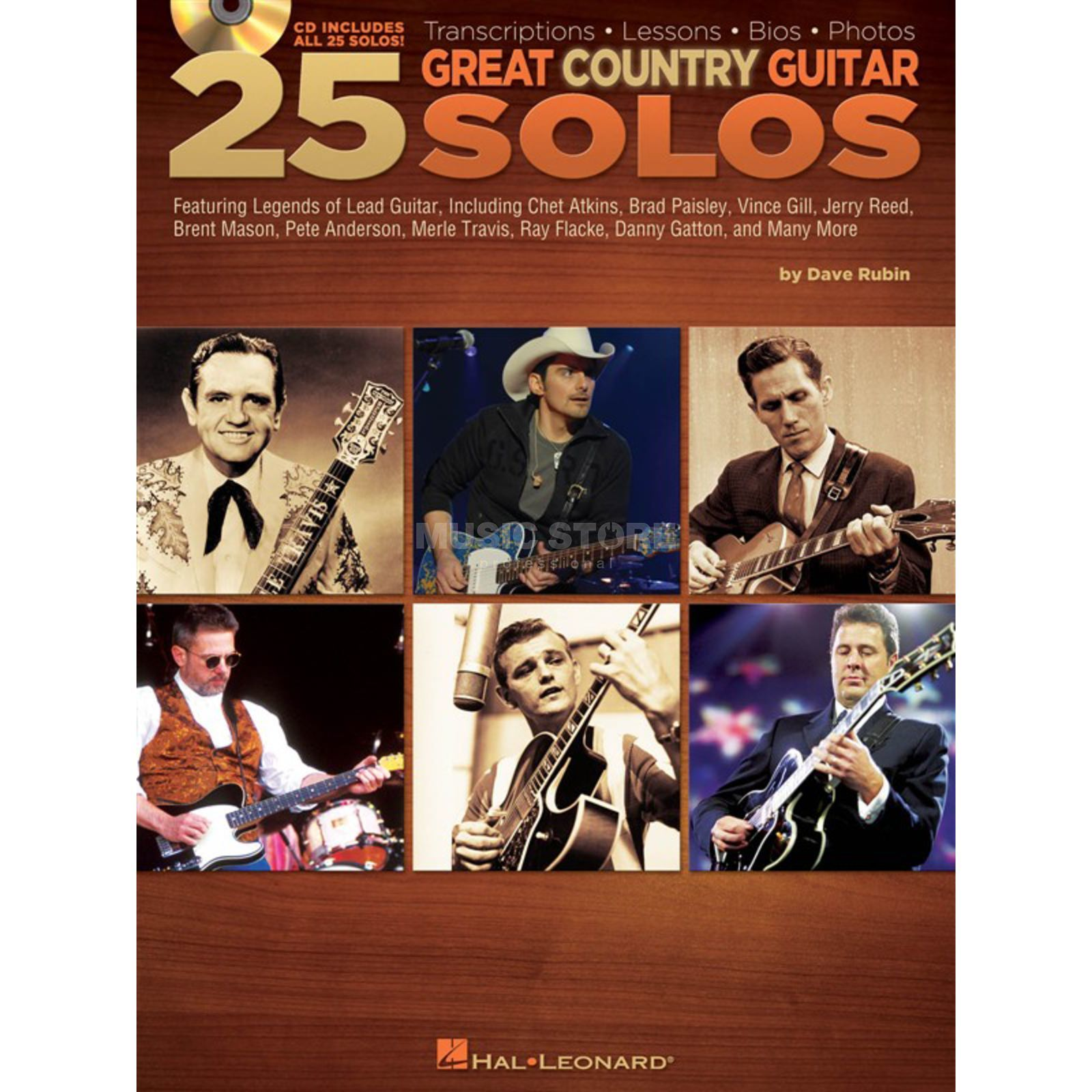 Hal Leonard Dave Rubin: 25 Great Country Guitar Solos Produktbild