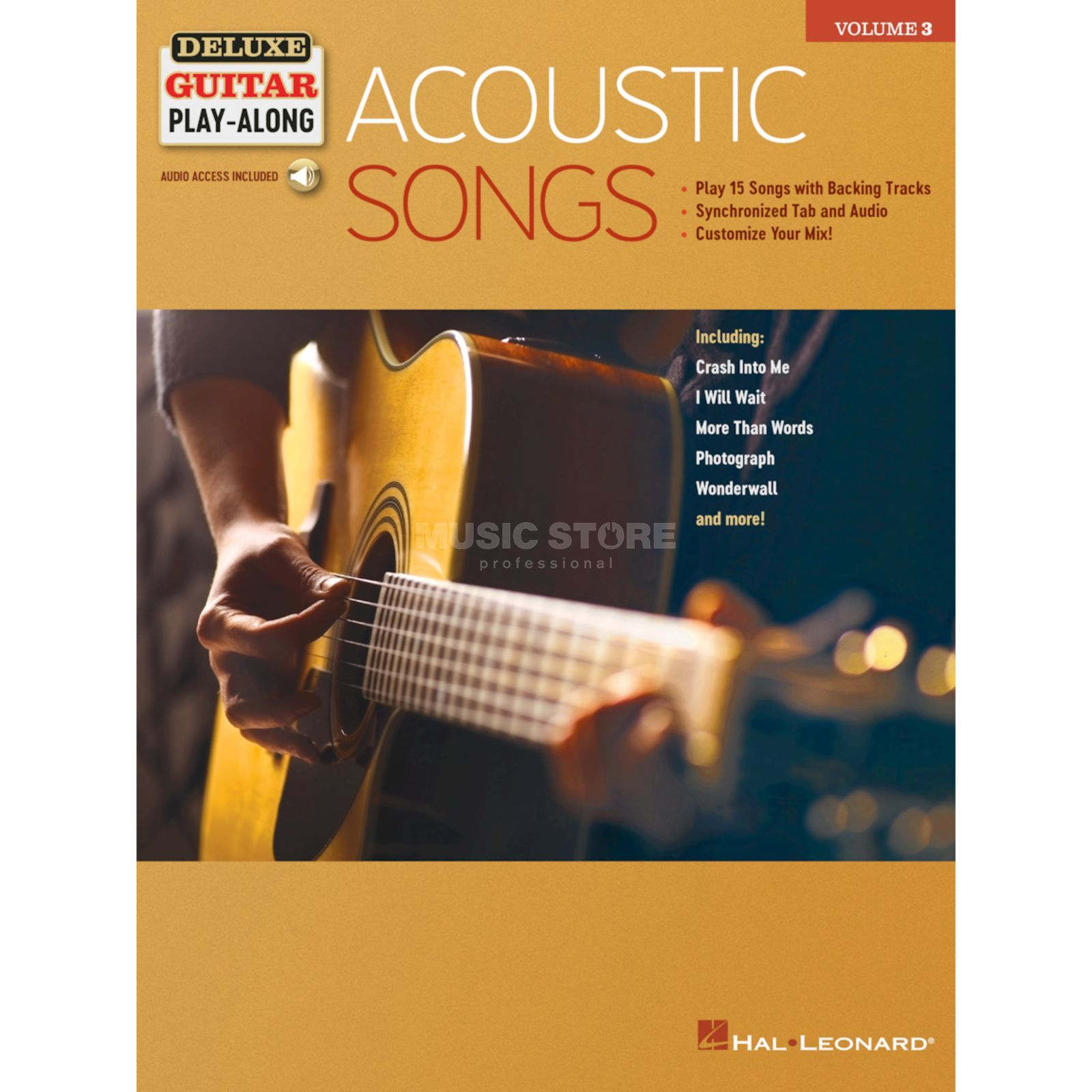Hal Leonard Deluxe Guitar Play-Along: Acoustic Songs Product Image