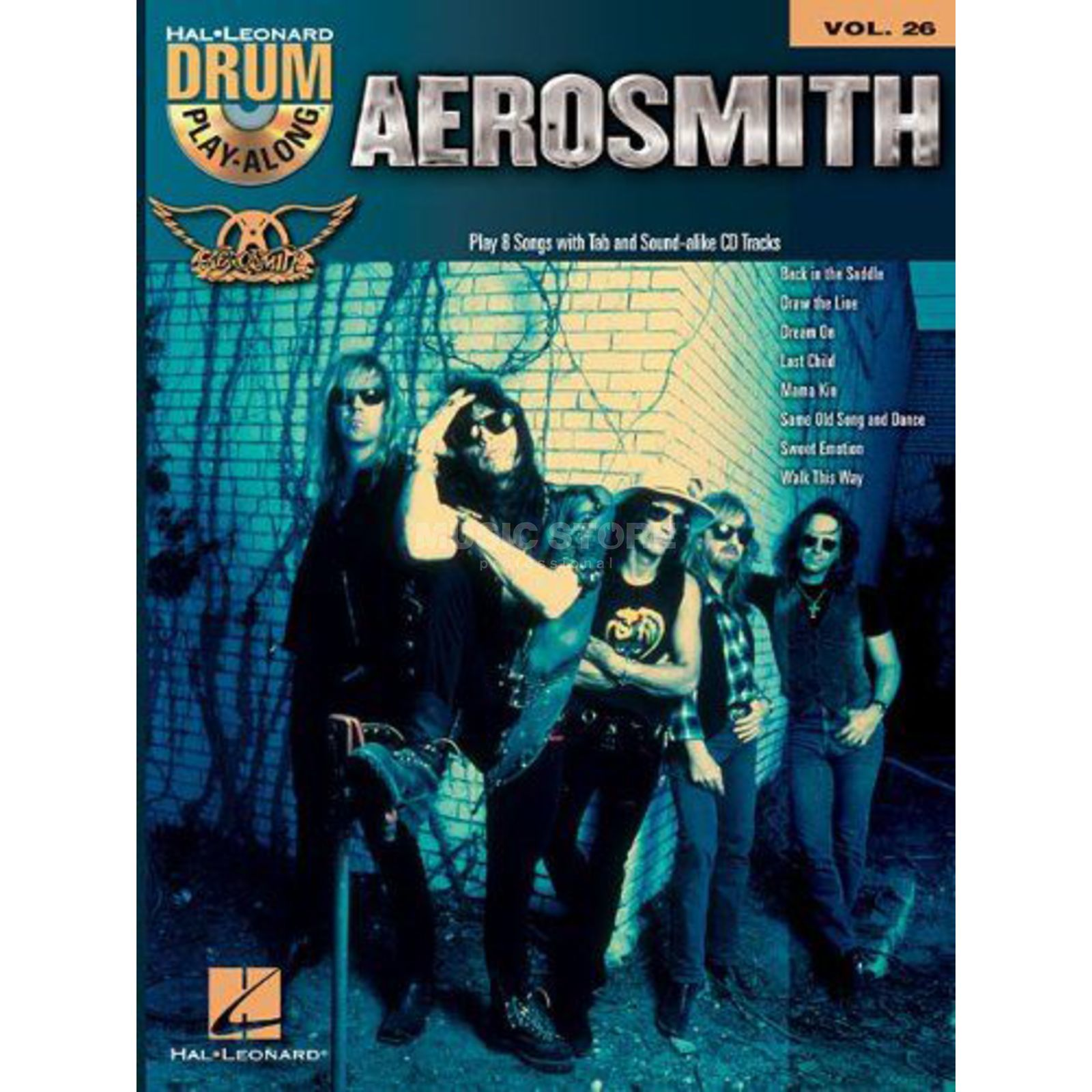 Hal Leonard Drum Play-Along: Aerosmith Vol. 26 Produktbillede