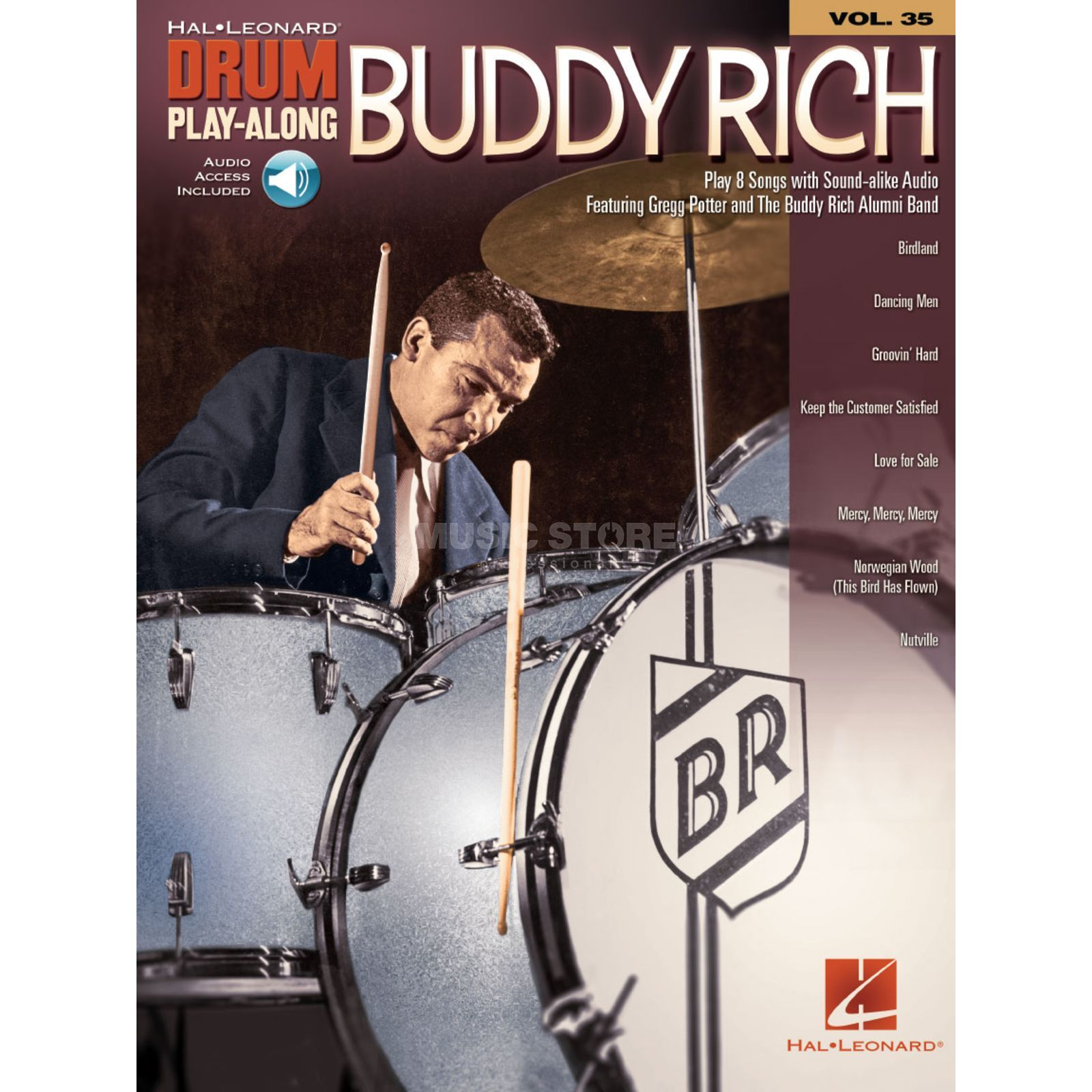 Hal Leonard Drum Play-Along: Buddy Rich Vol. 35, Download Productafbeelding