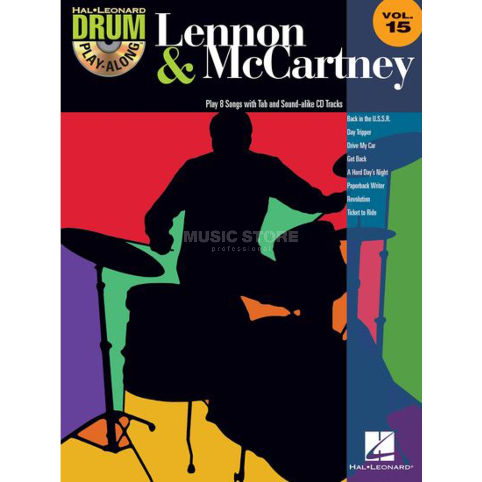 Hal Leonard Drum Play-Along: Lennon & Mc Cartney Vol. 15 Produktbild