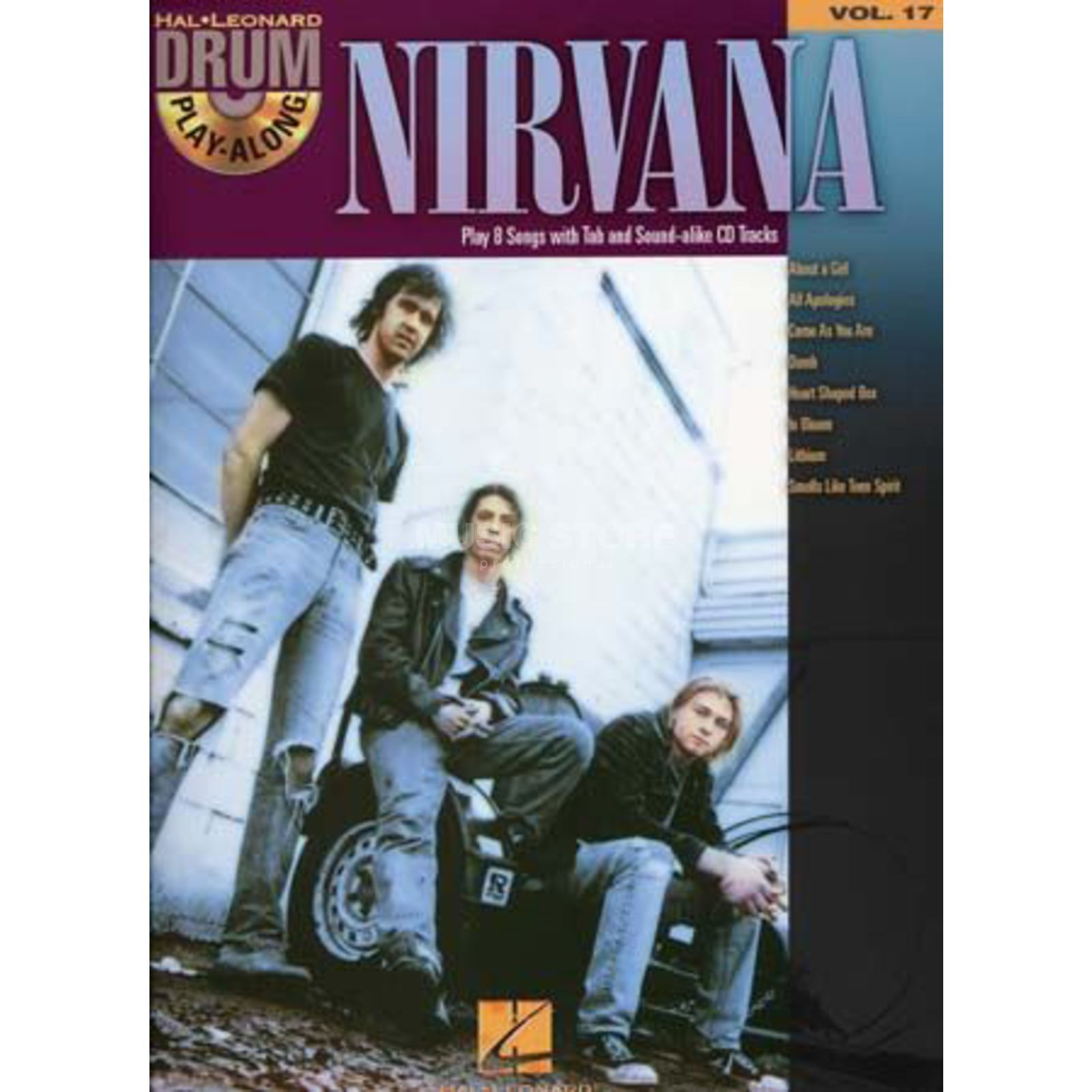Hal Leonard Drum Play-Along: Nirvana Vol. 17 Produktbild