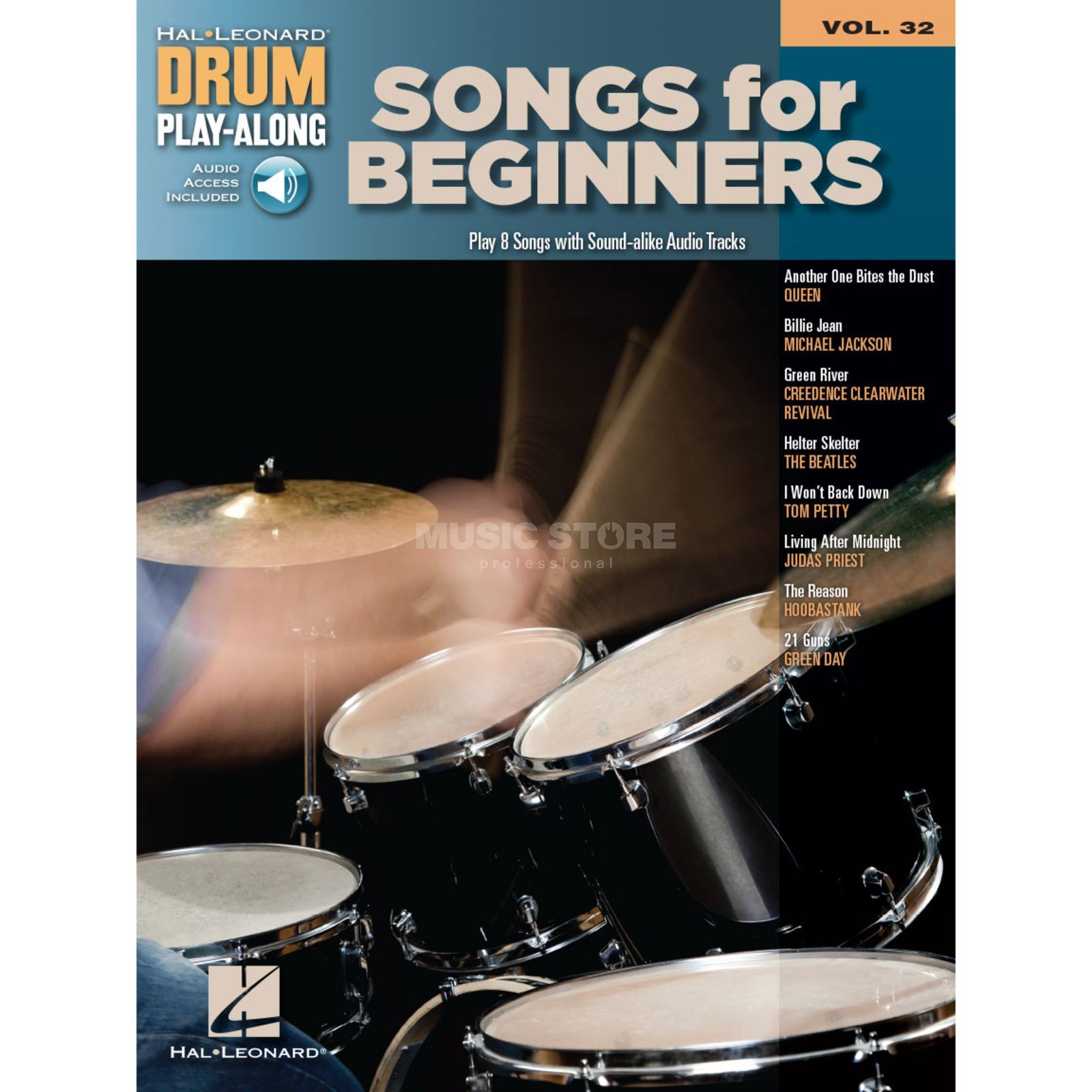 Hal Leonard Drum Play-Along: Songs for Beginners, Vol. 32 Produktbild