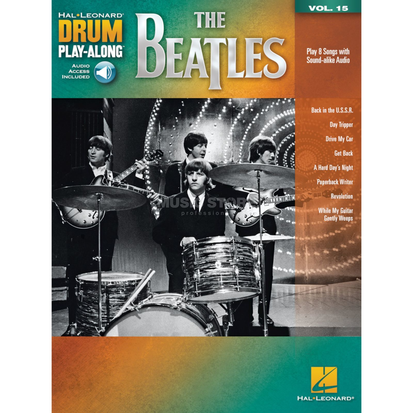 Hal Leonard Drum Play-Along Volume 15: The Beatles Product Image