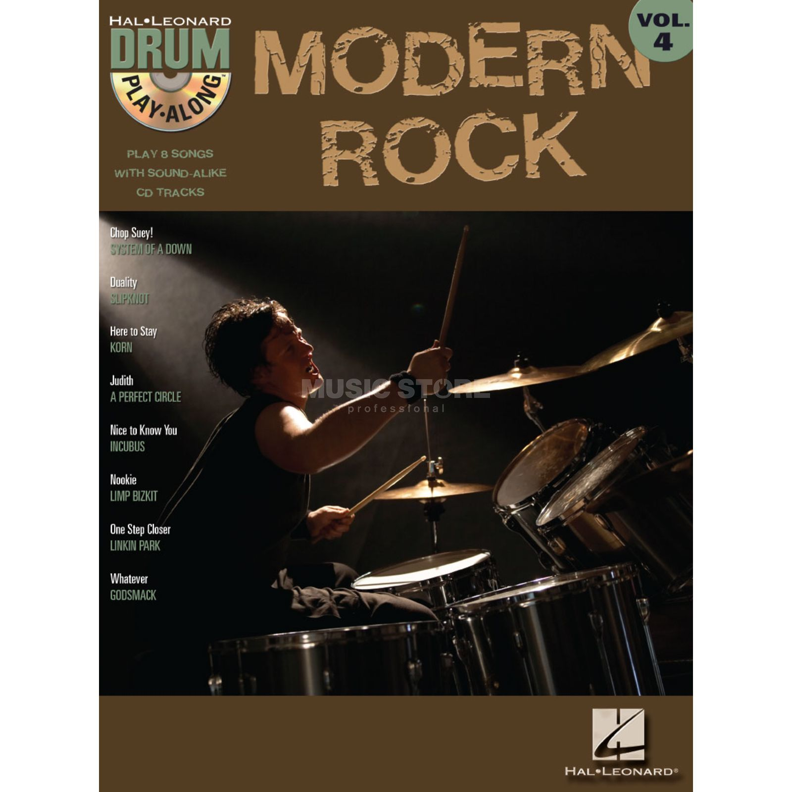 Hal Leonard Drum Play Along Volume 4: Modern Rock Product Image