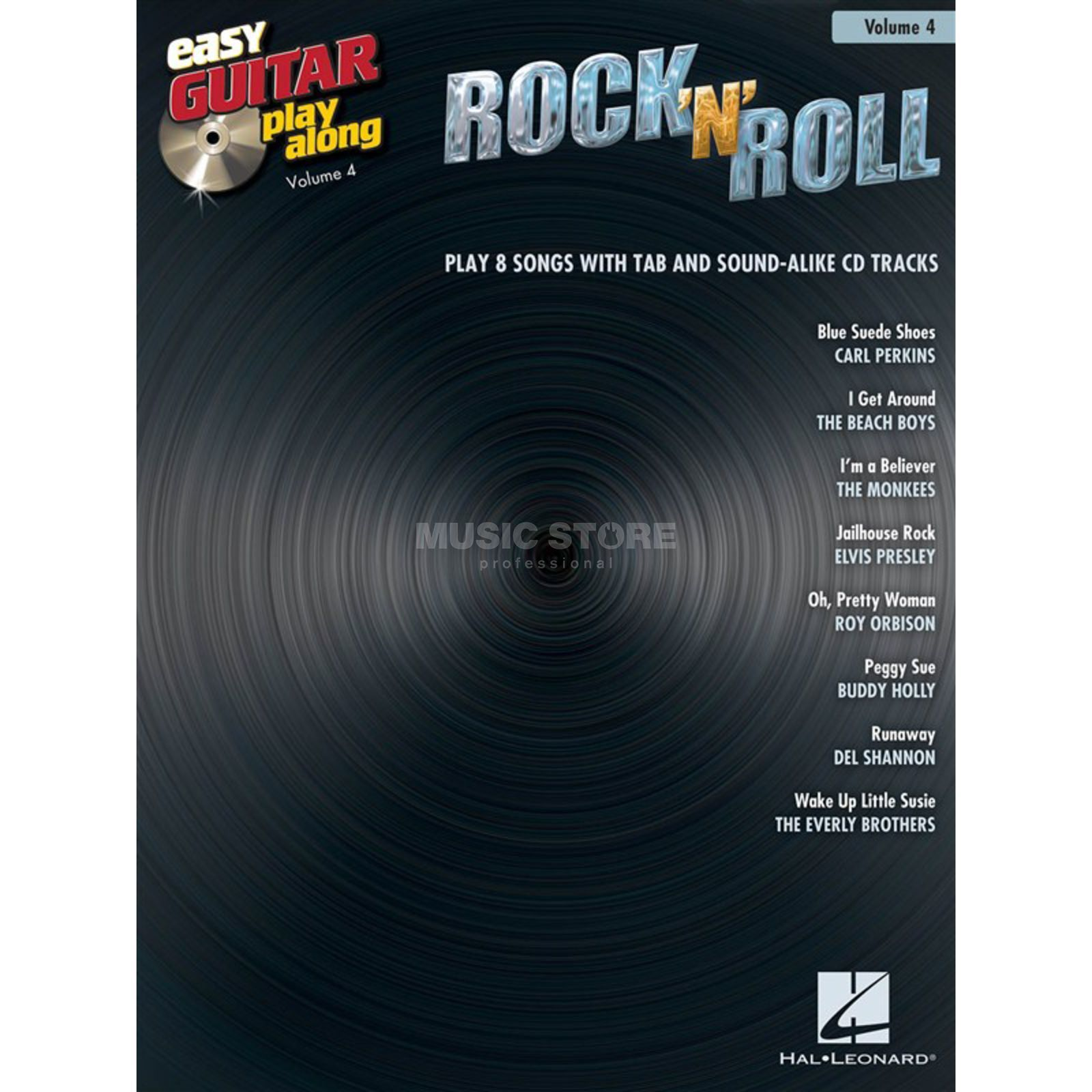 Hal Leonard Easy Play Along: Rock 'n' Roll Vol. 4, TAB und CD Produktbillede